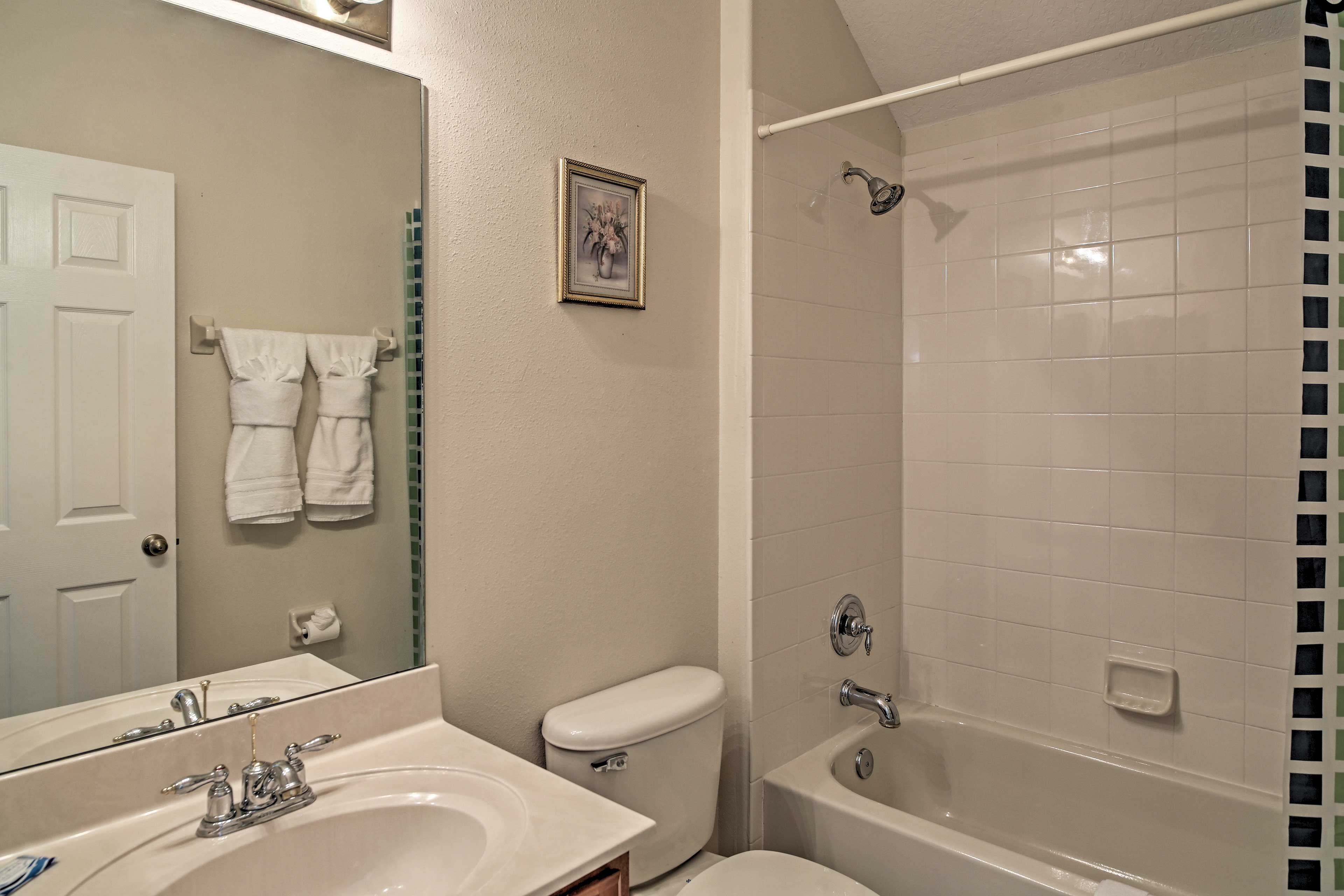 Draw a bath in the shower/tub combo.