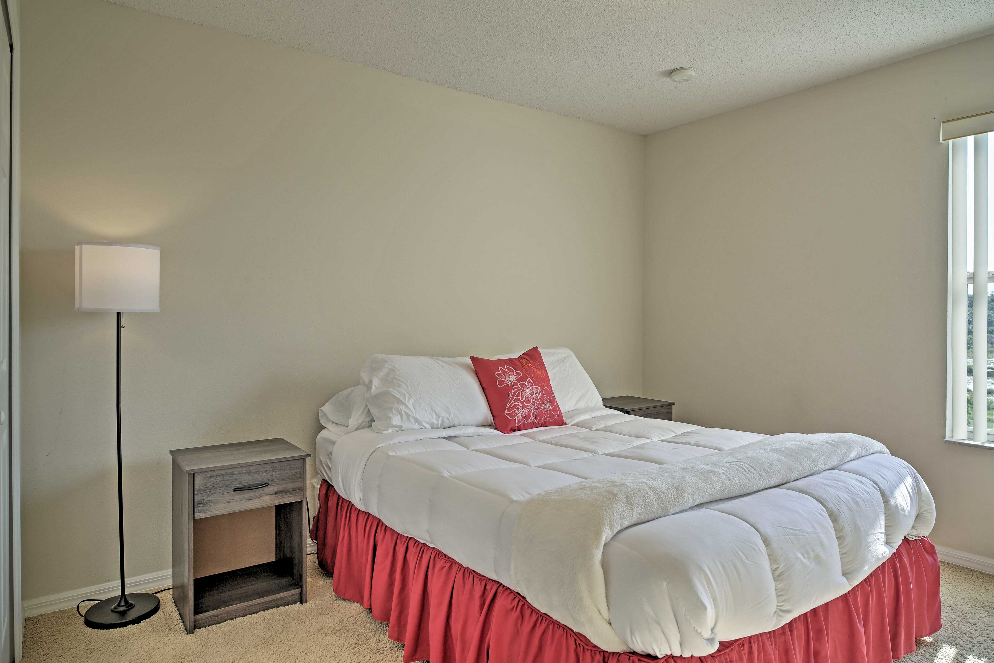 The fourth bedroom includes a queen bed for 2.