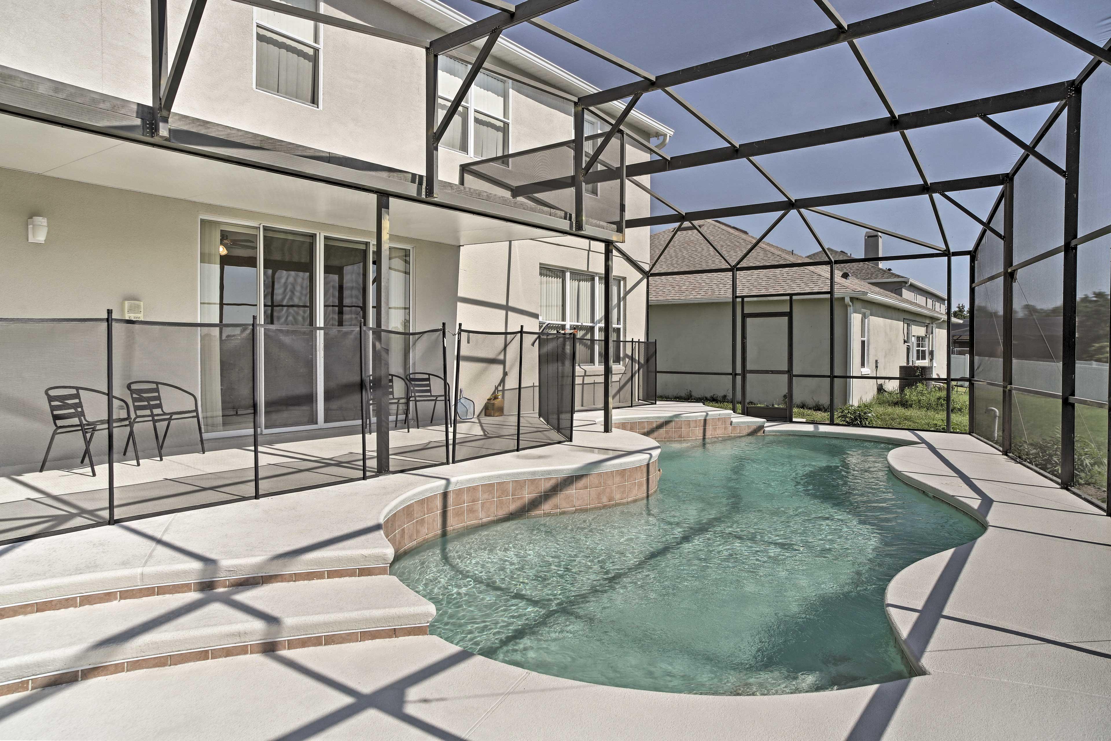 Make a splash in the private pool!