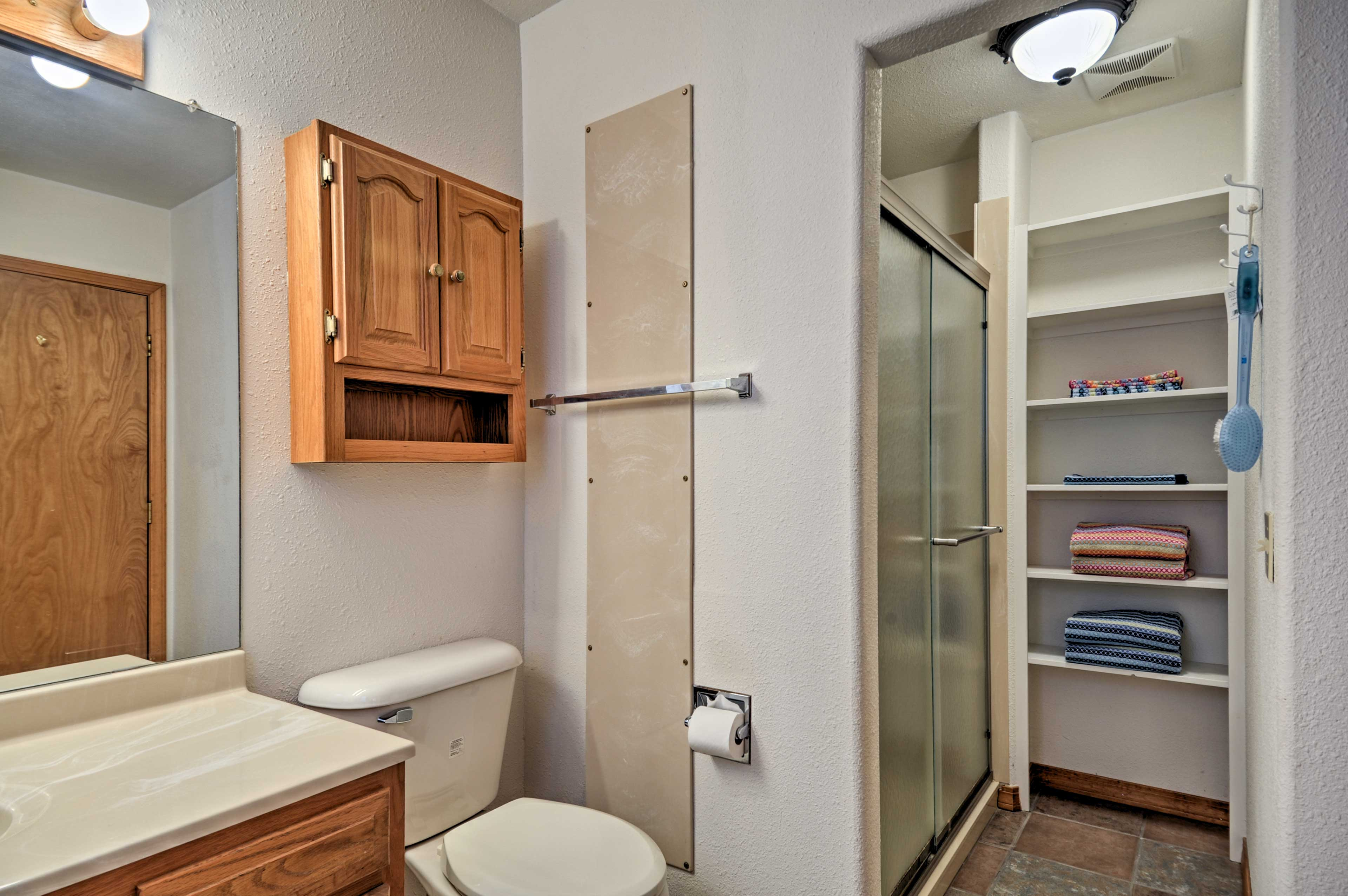 Wash up before bed in your private en-suite bathroom.