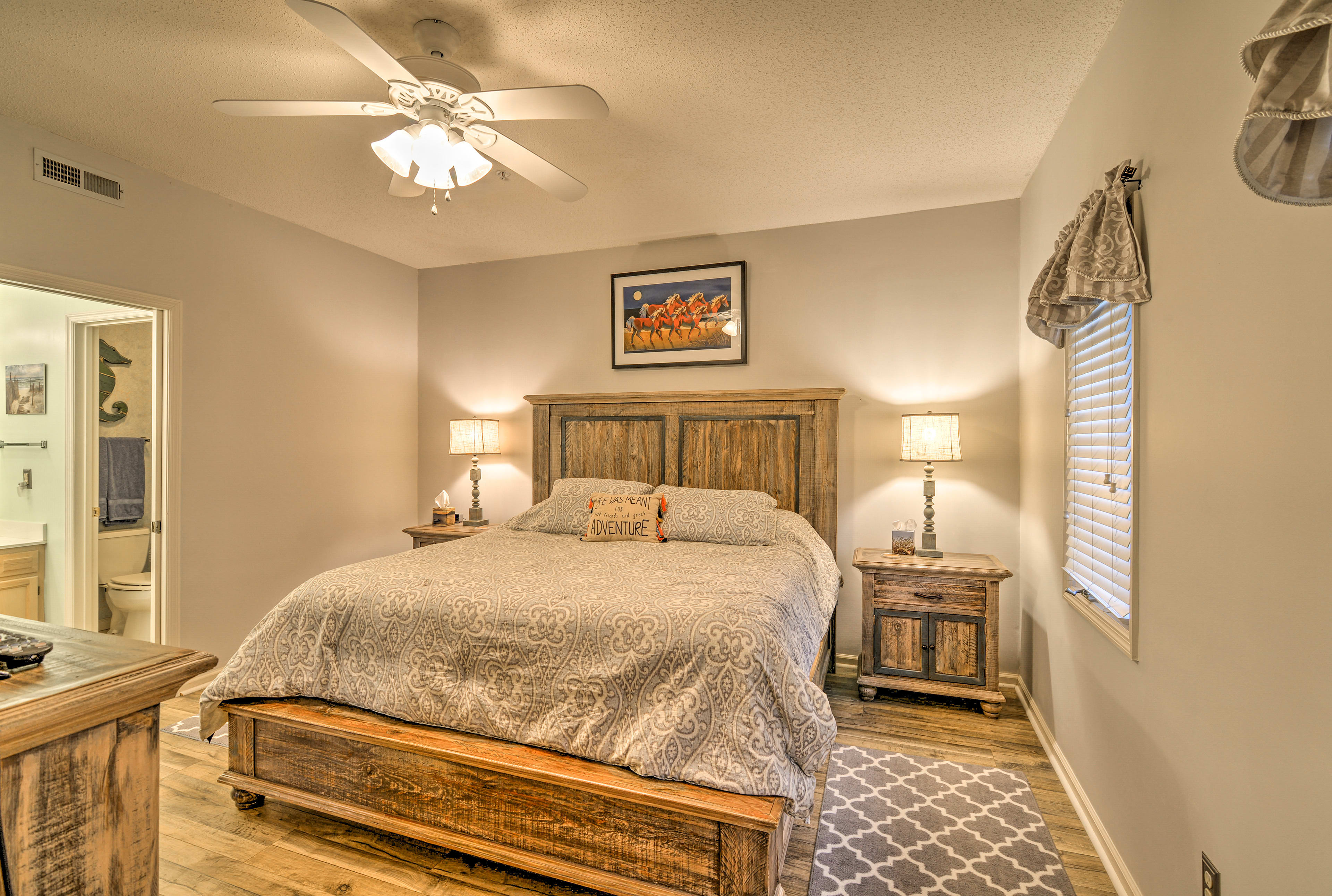 Make your way to the  well-appointed Master Bedroom.