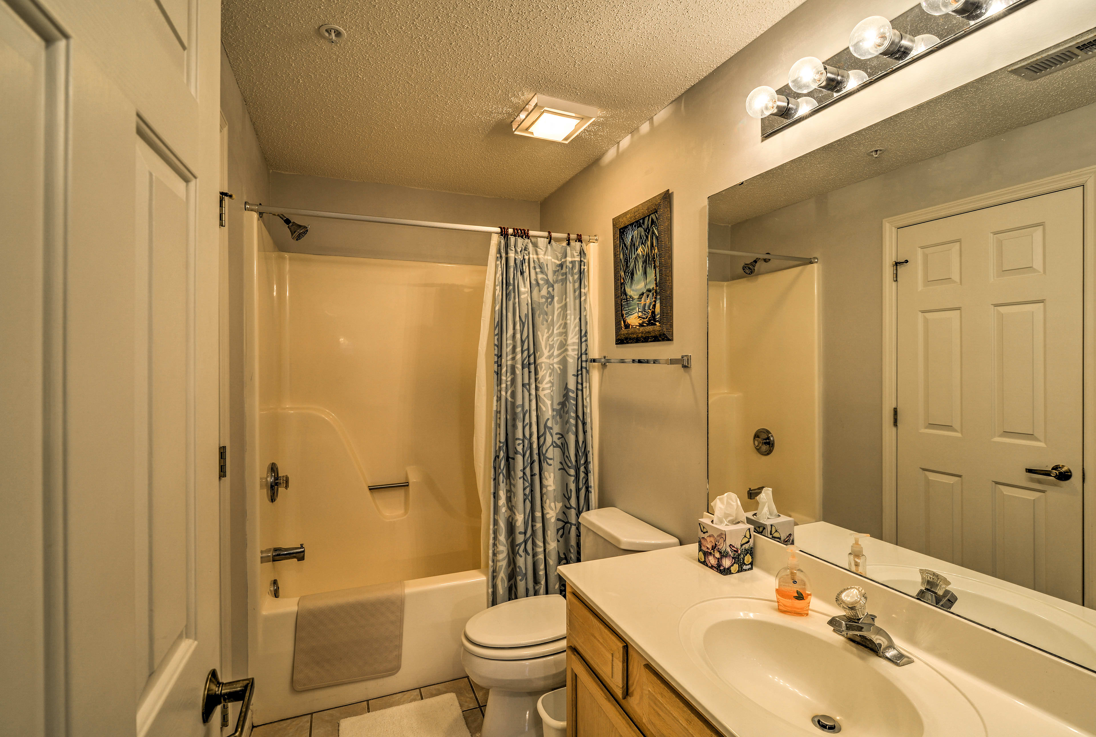 Get ready for daily adventures in this full bathroom.