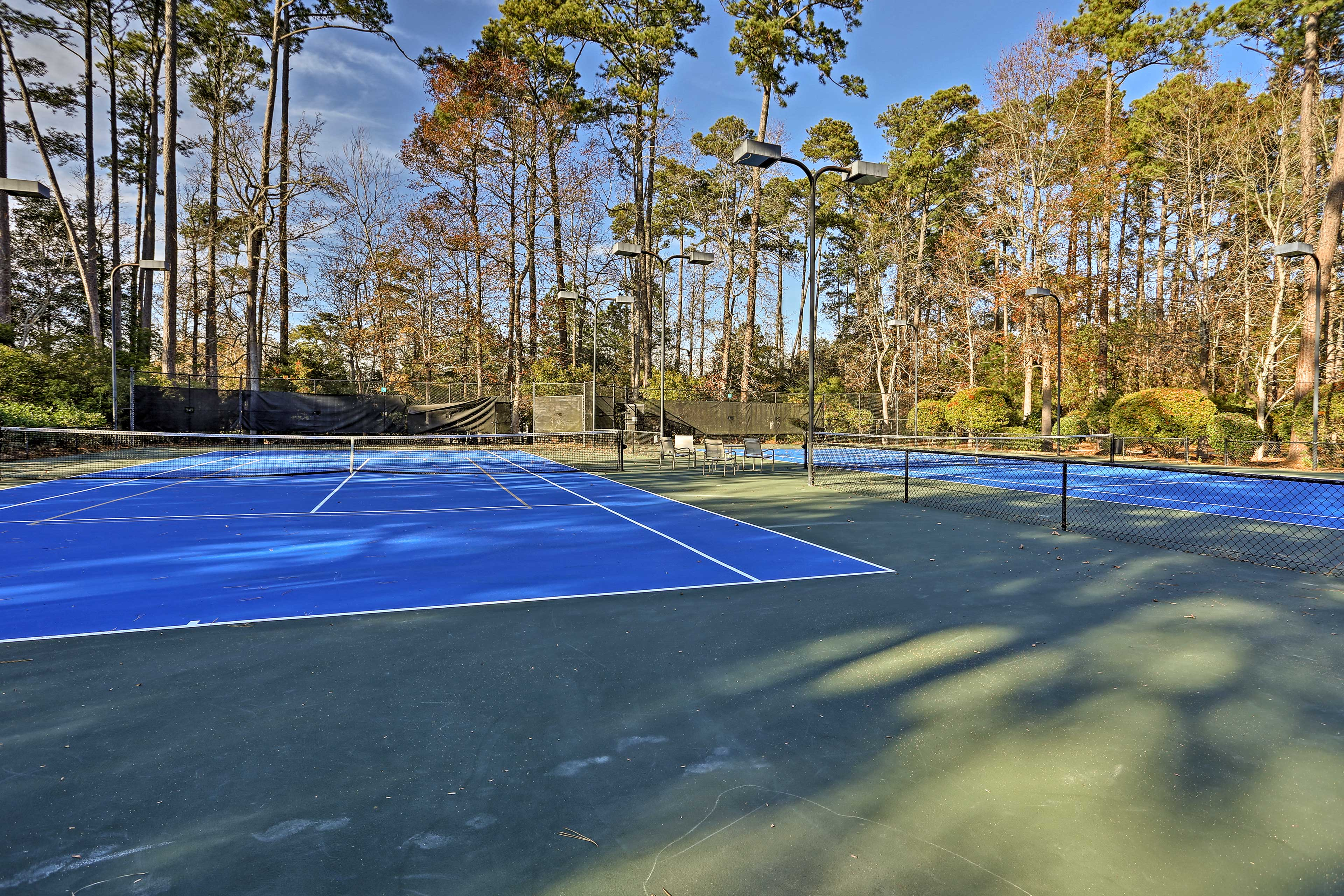 Play a friendly game of tennis with loved ones.