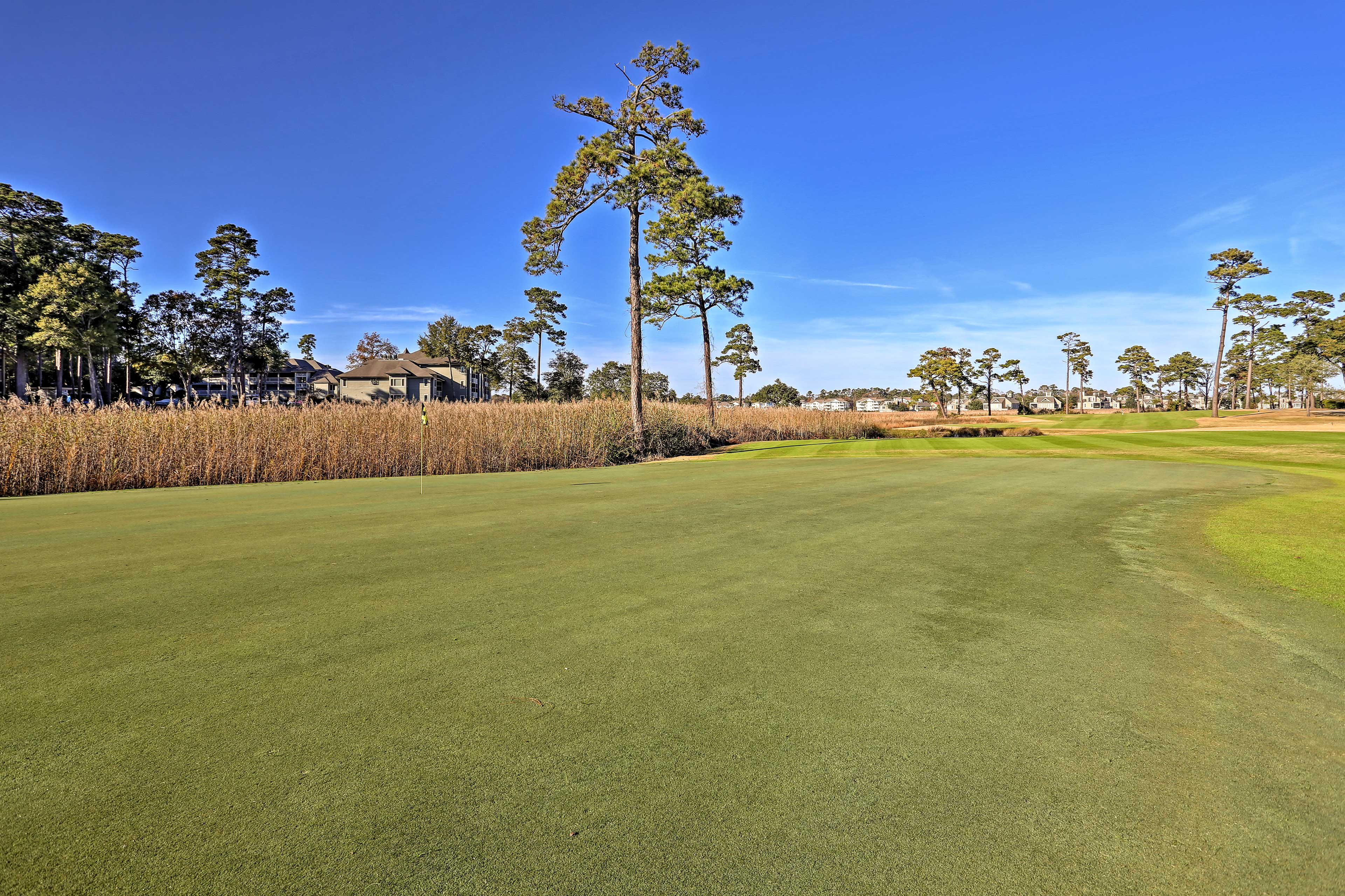 Hit the links at the on-site golf course.