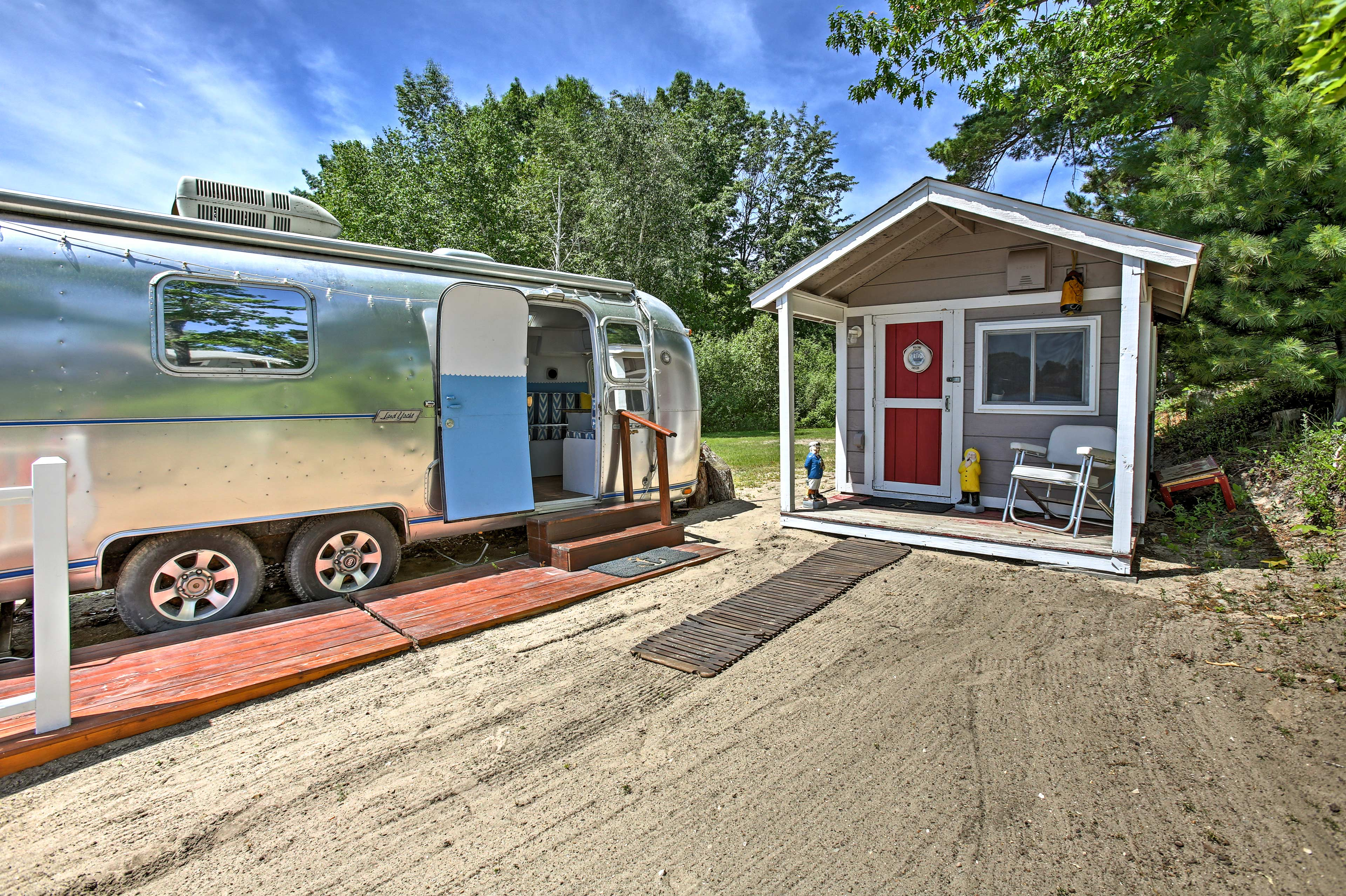 This airstream, located next to the bath house is not for guest use.