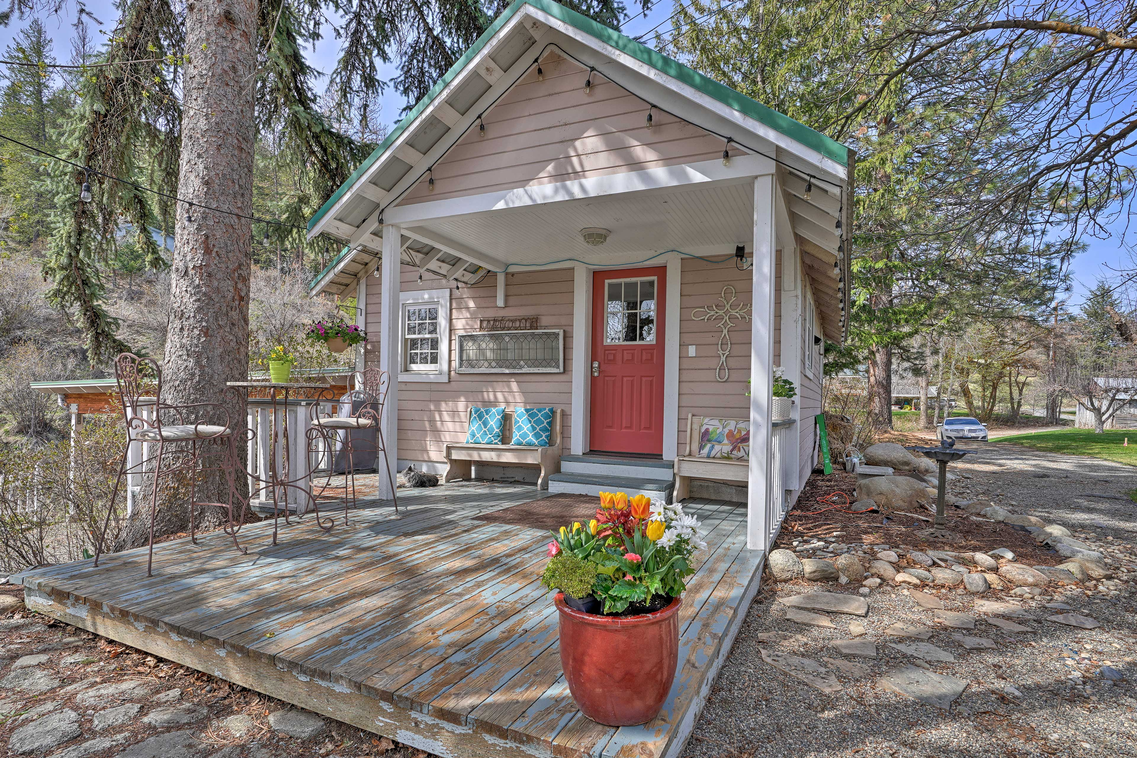 Your party of 4 will love this picturesque vacation rental home with a garden.