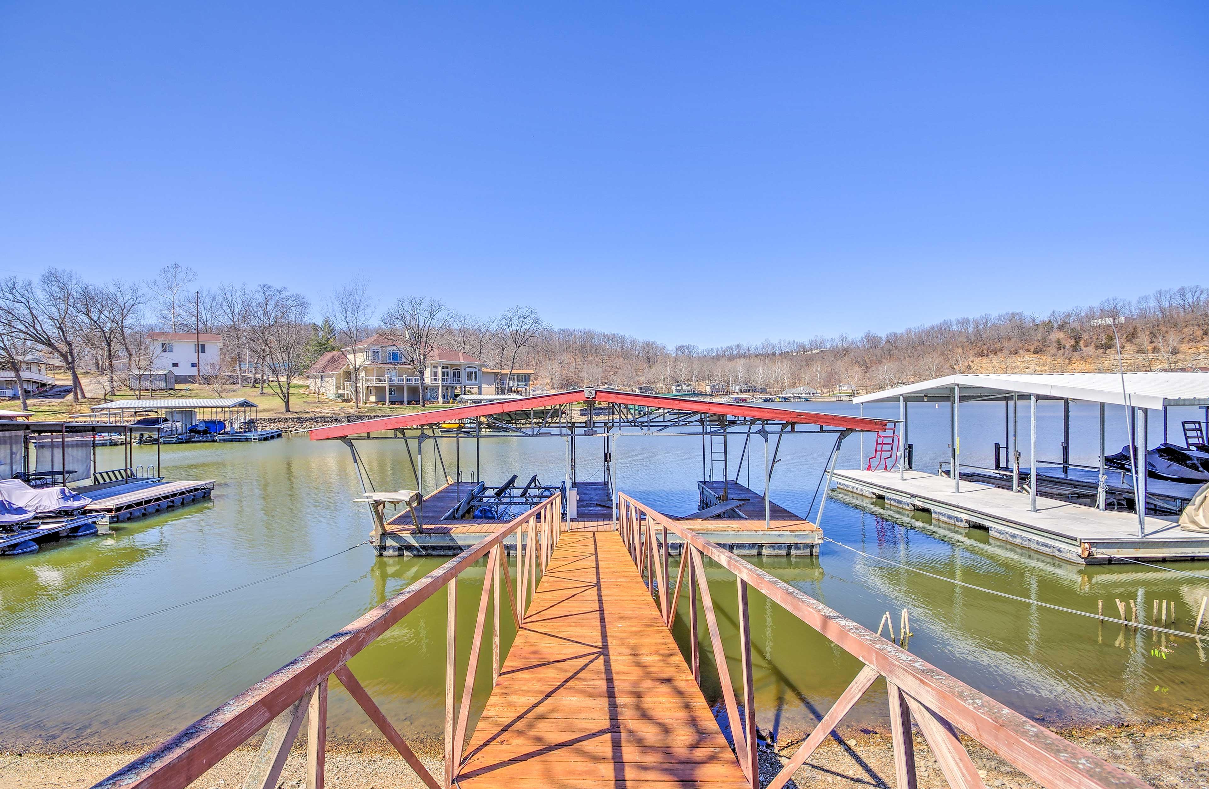 Lake Ozark Vacation Rental | 2BR | 2BA | Exterior Stairs