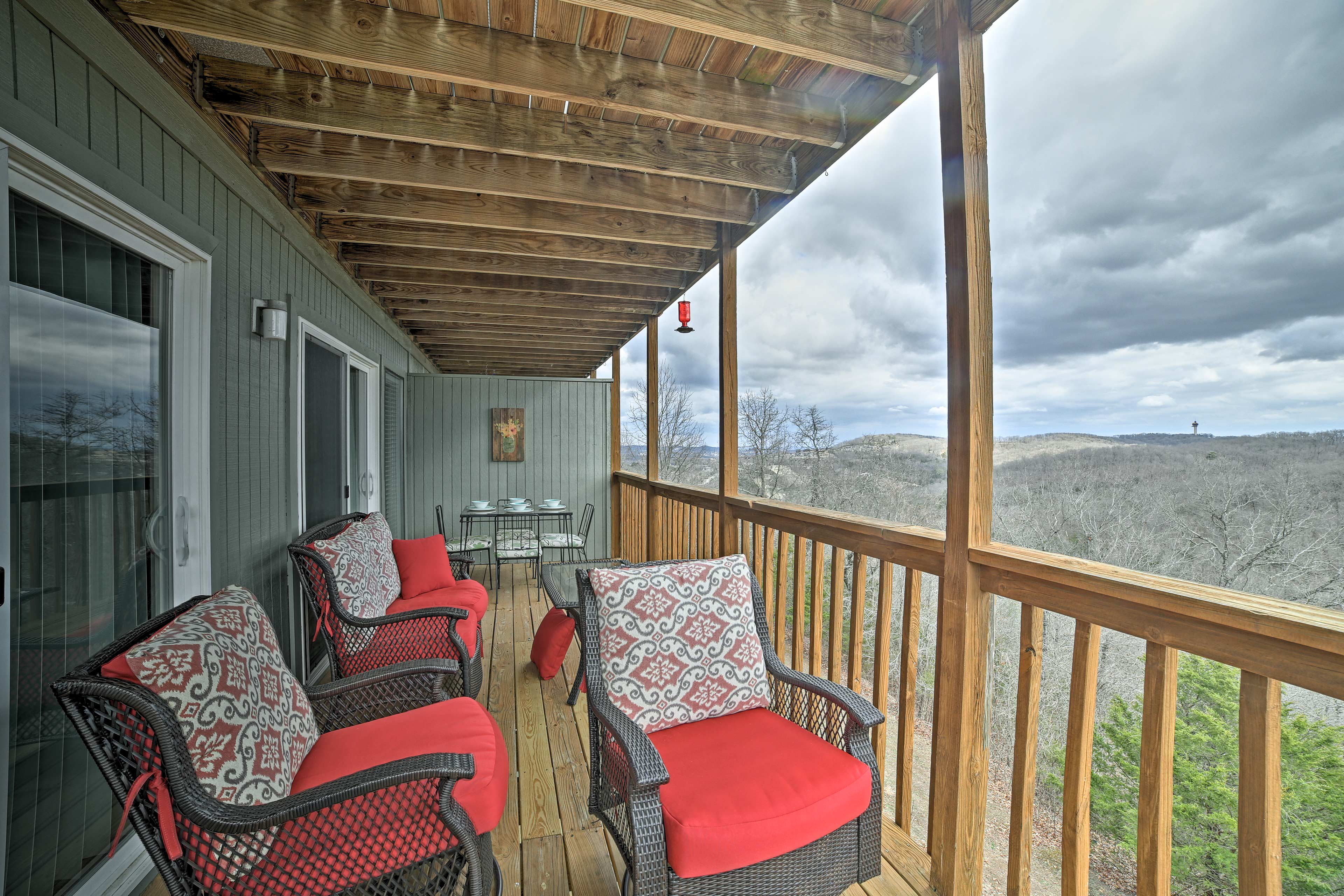 Enjoy peaceful views from the private deck.
