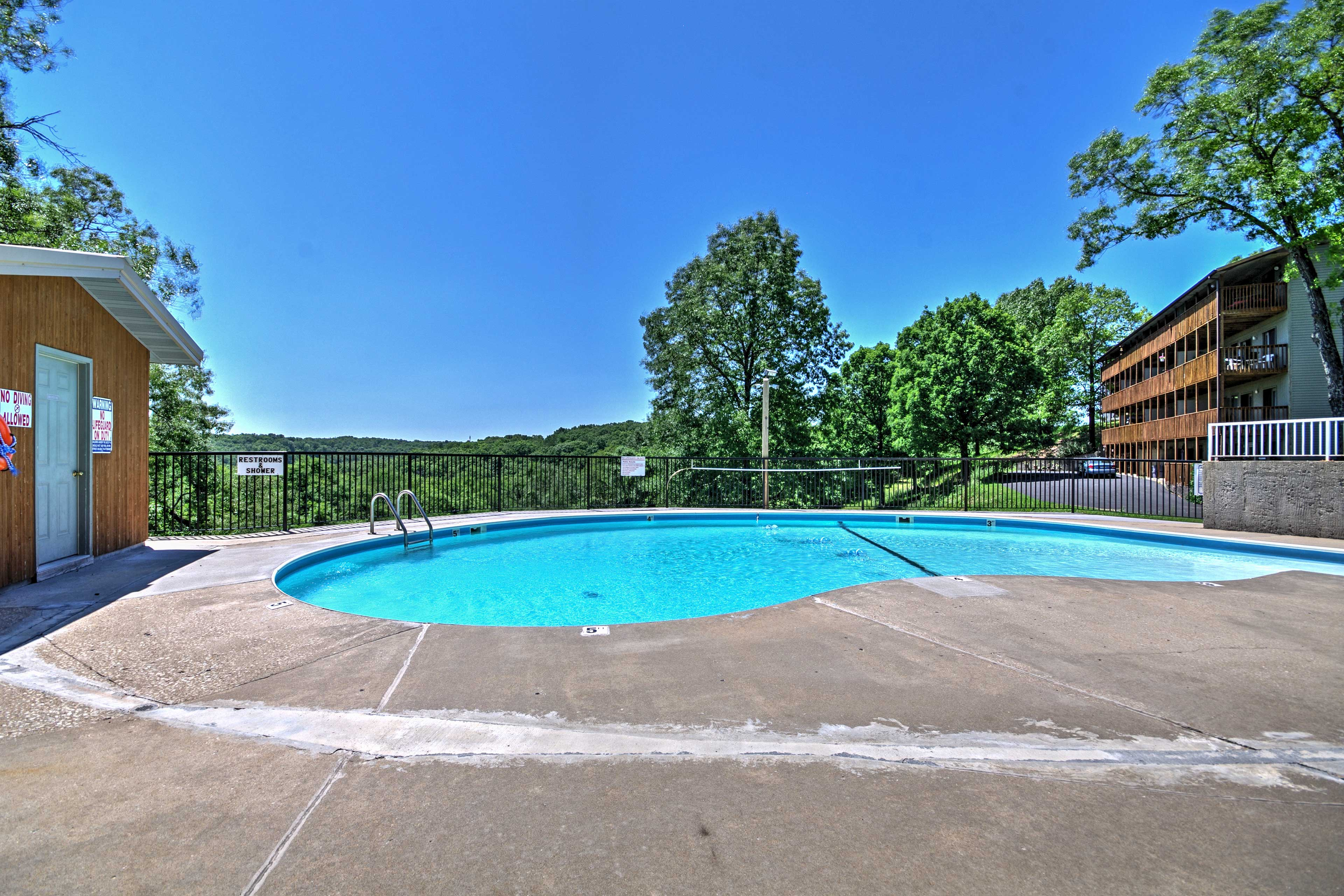 You'll find 2 pools and a playground within the community!
