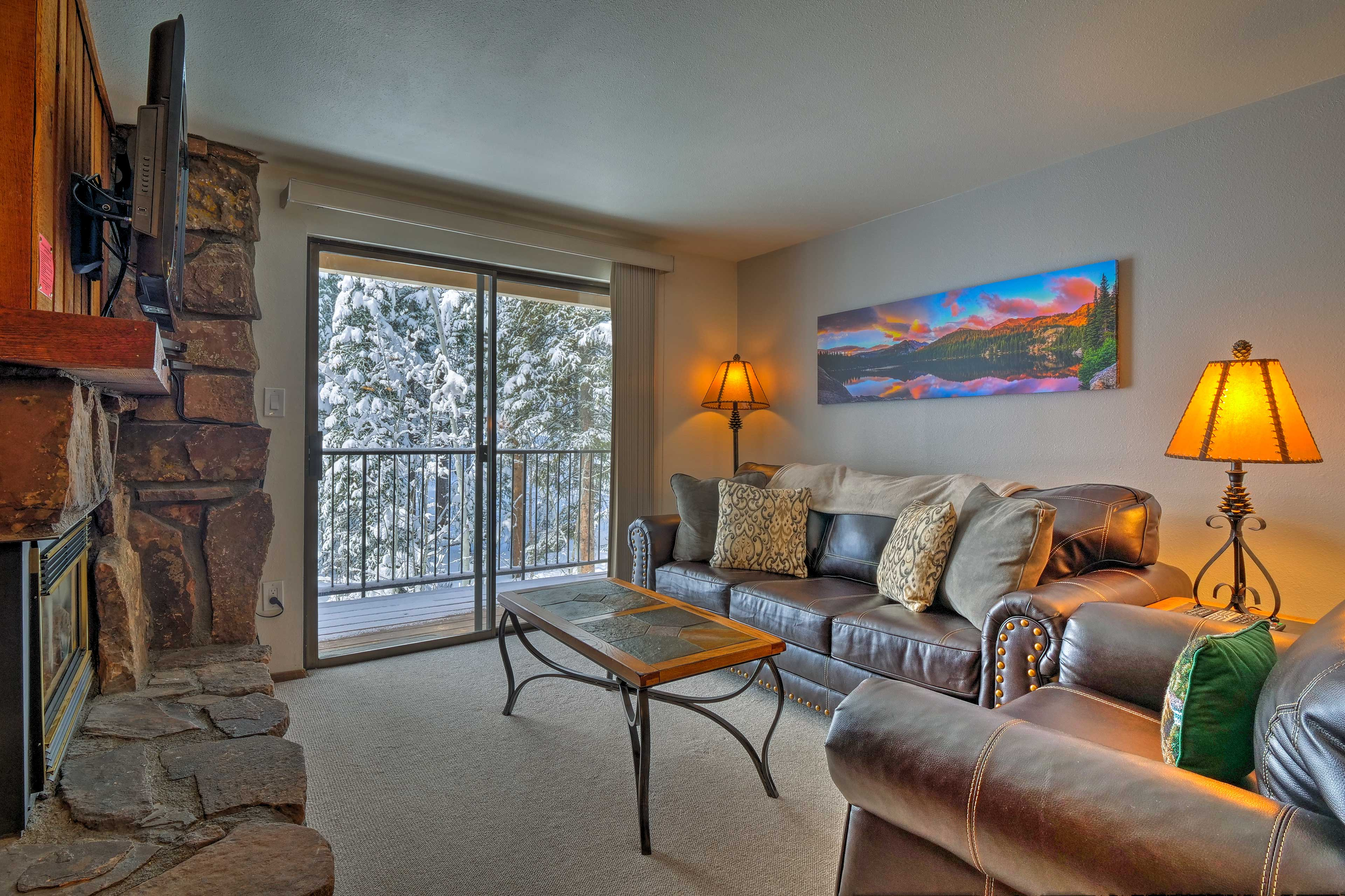 Make the most of your next mountain getaway at this vacation rental condo!