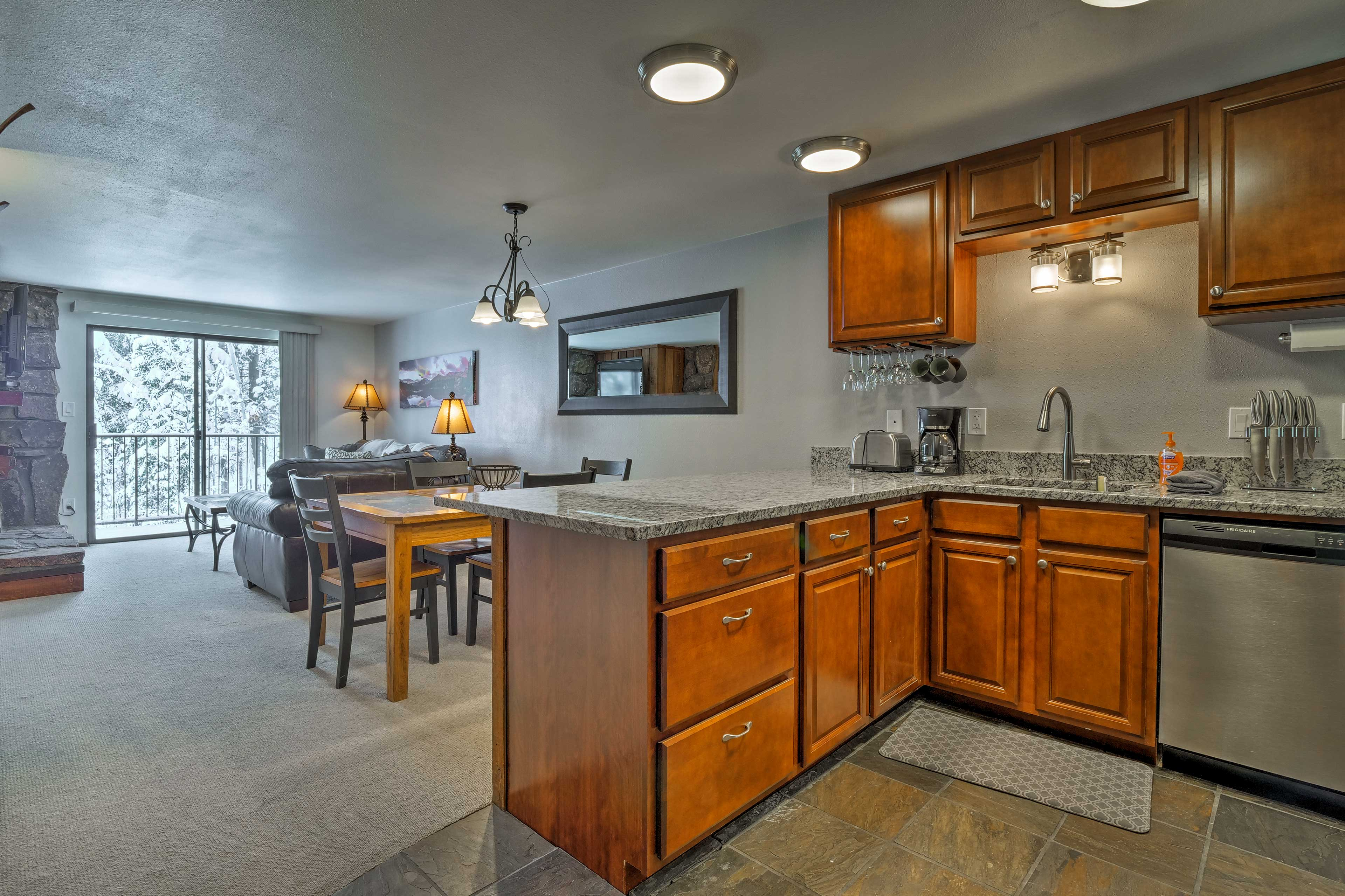 Keep the cook company at the 2-person breakfast bar.