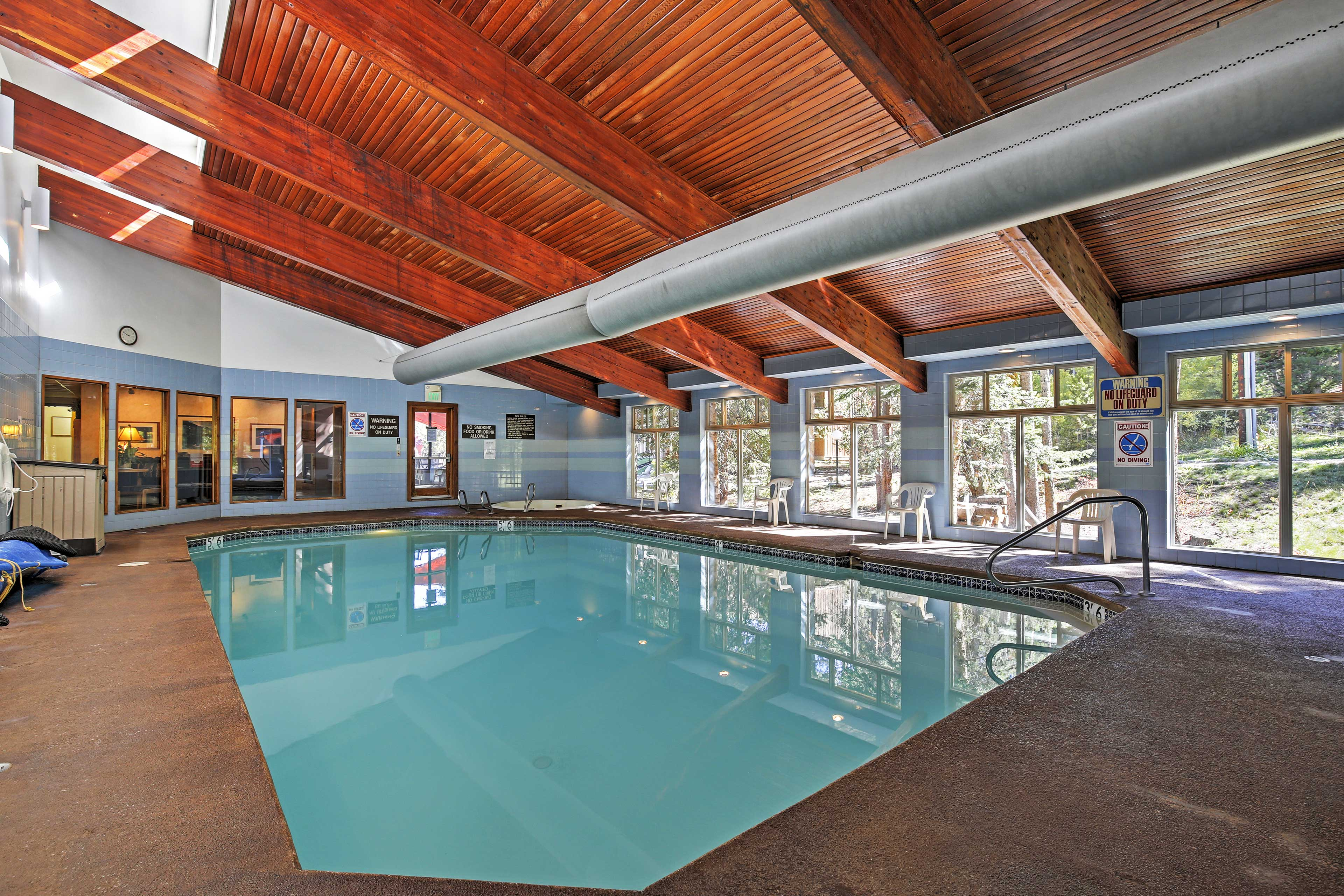 Splash around with loved ones at the indoor pool.