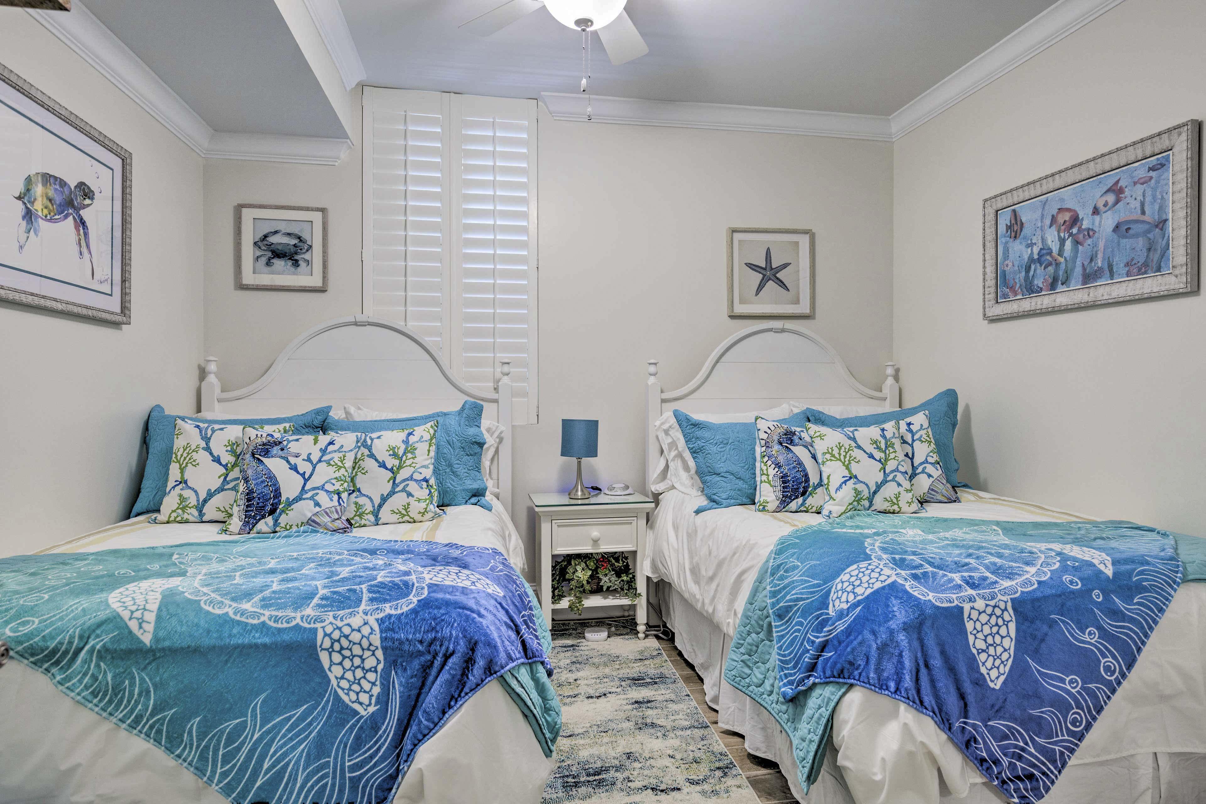 Bedroom 3 | 2 Full Beds | Linens Provided