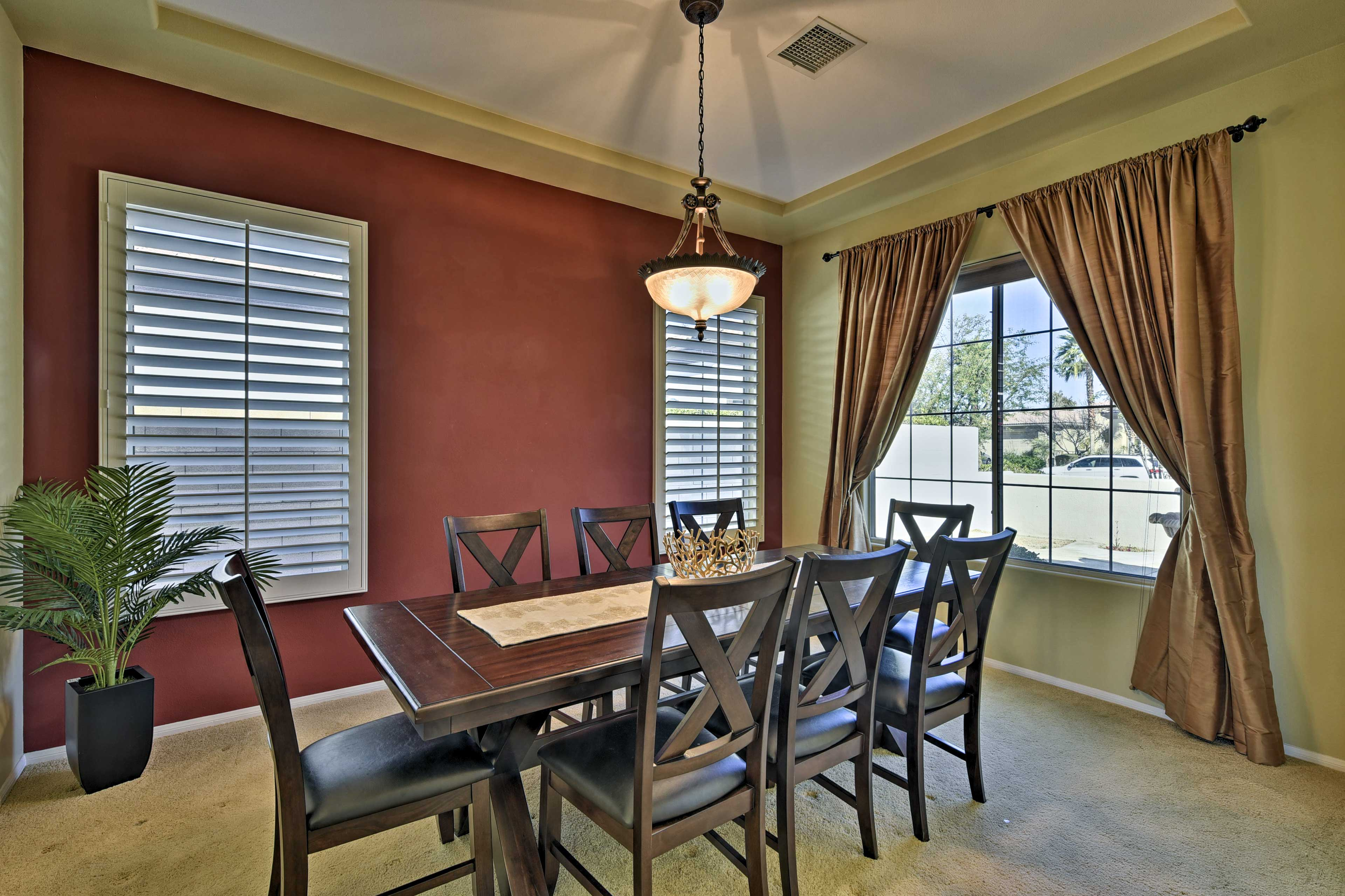 For formal occasions, dine in the dining room.