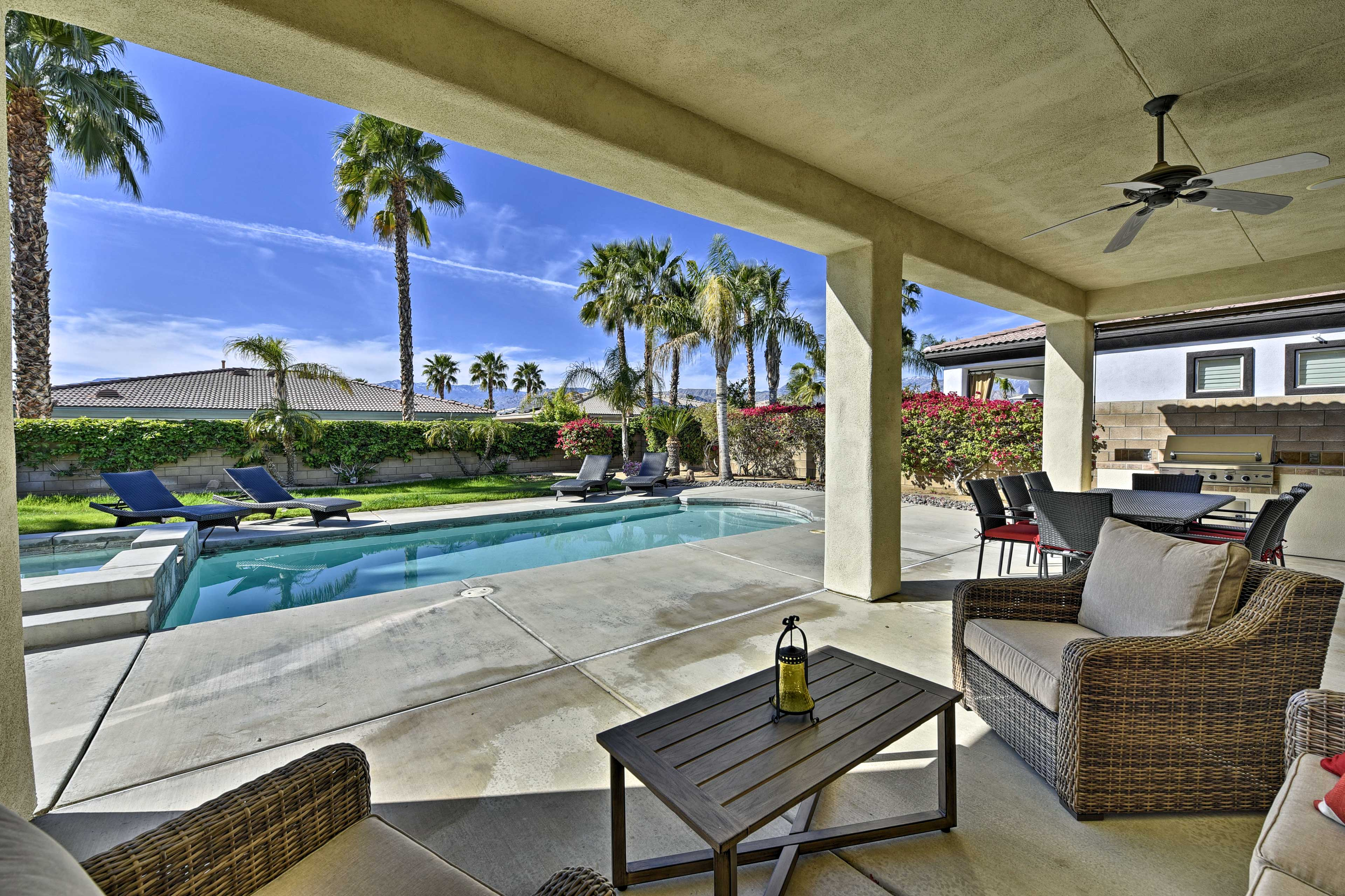 Retreat to the desert for some relaxation in this luxurious vacation rental!