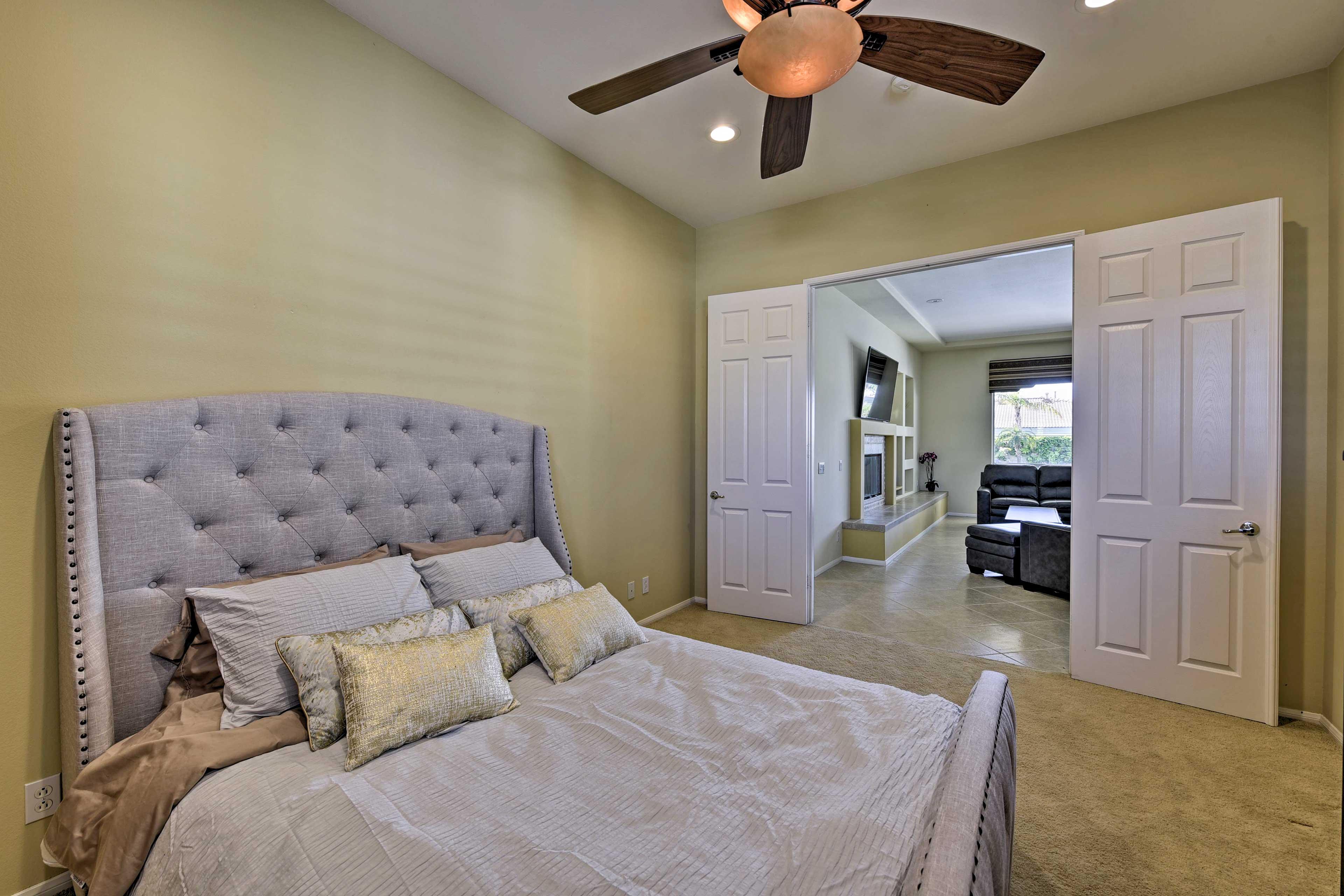 Enjoy rejuvenating slumbers in Bedroom 2!