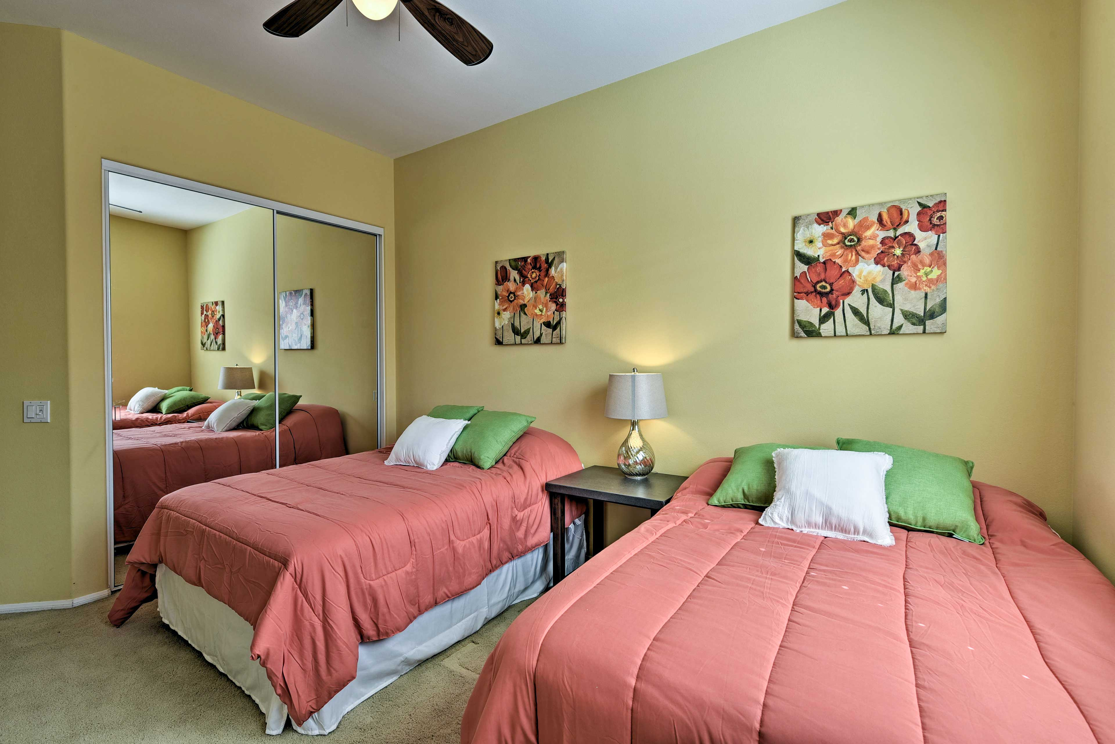 This room is perfect for friends or siblings sharing a room on vacation.