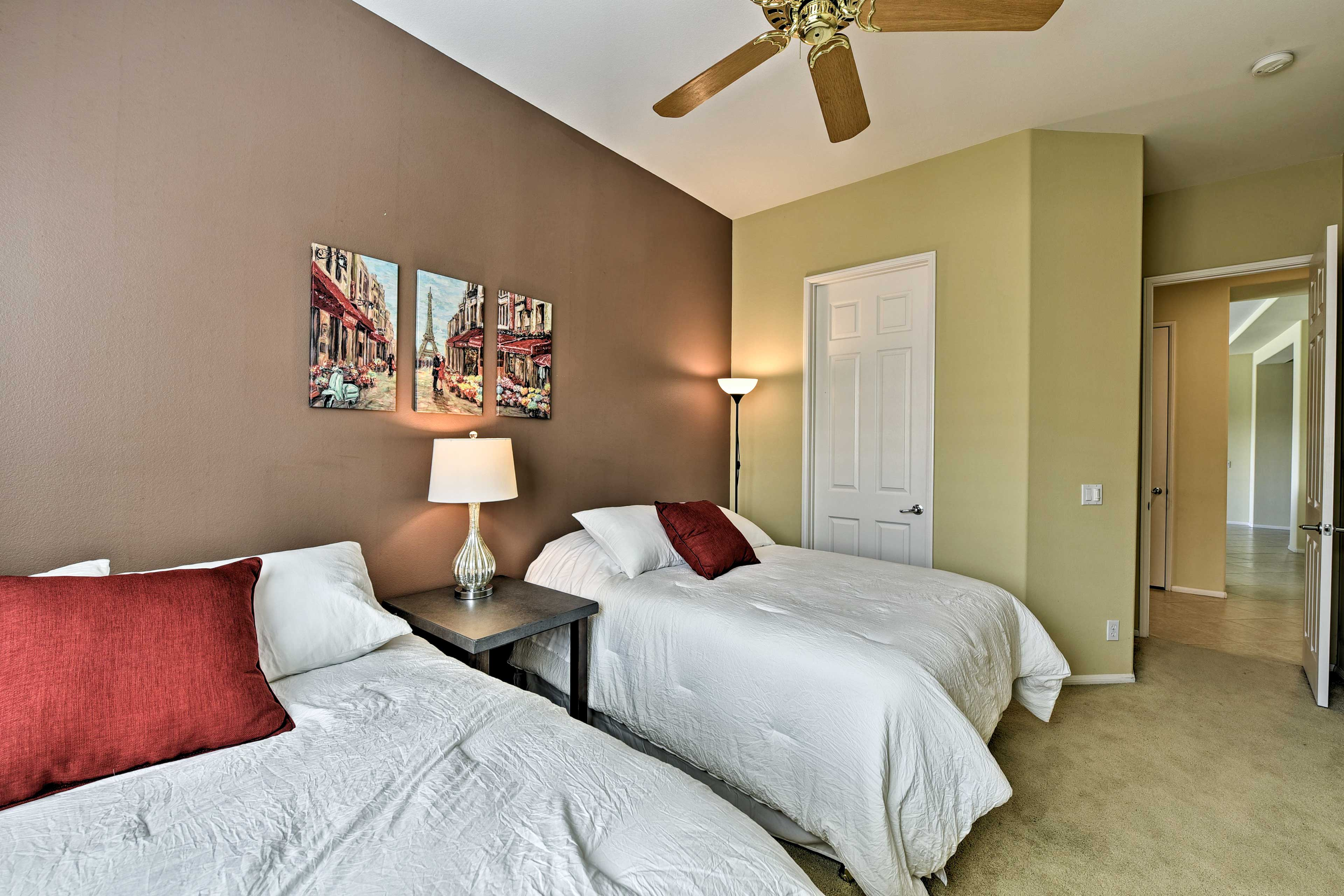 You'll love coming home to this warm and cozy room.