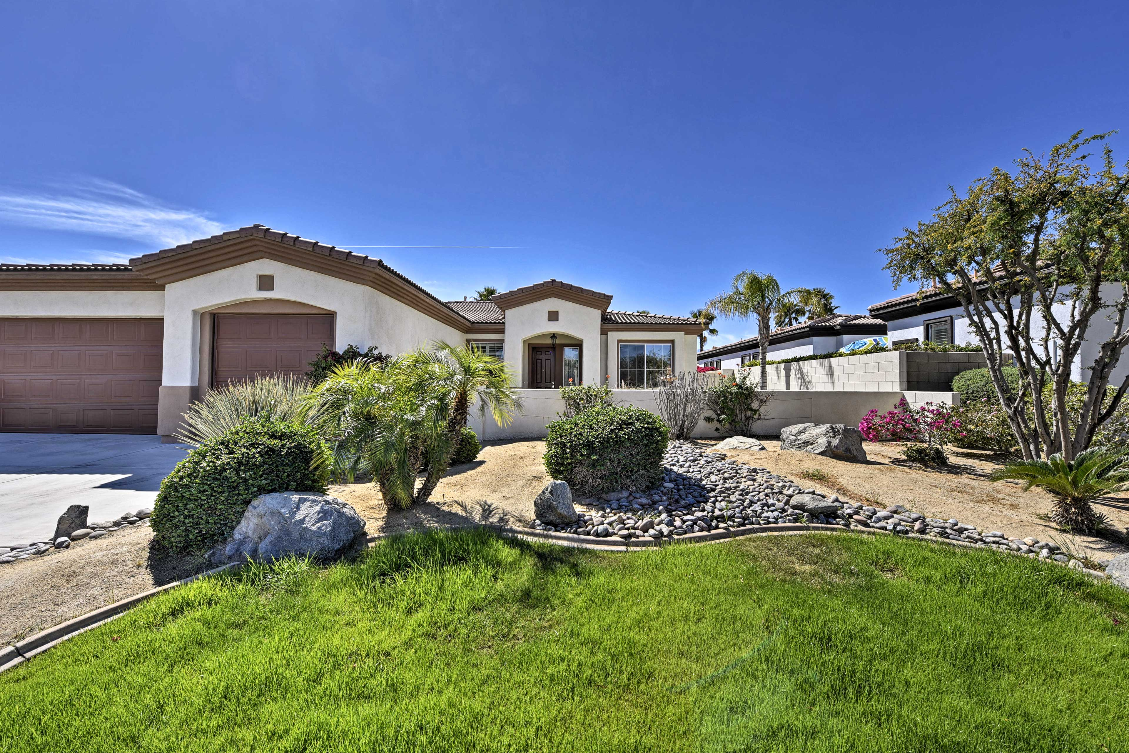 This abode is close to all of Palm Desert's hottest attractions.