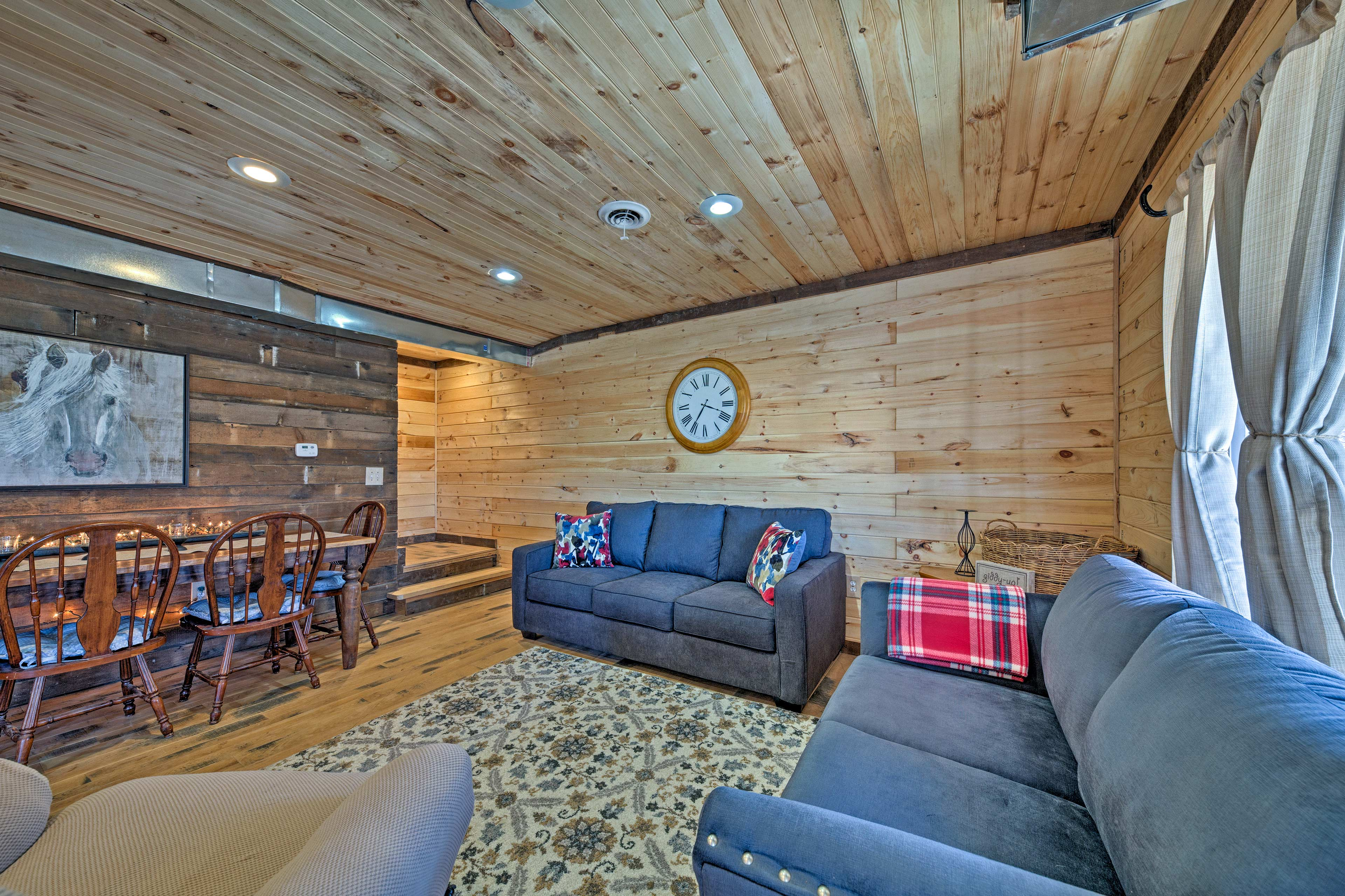 The well-appointed interior boasts all the comforts of home!