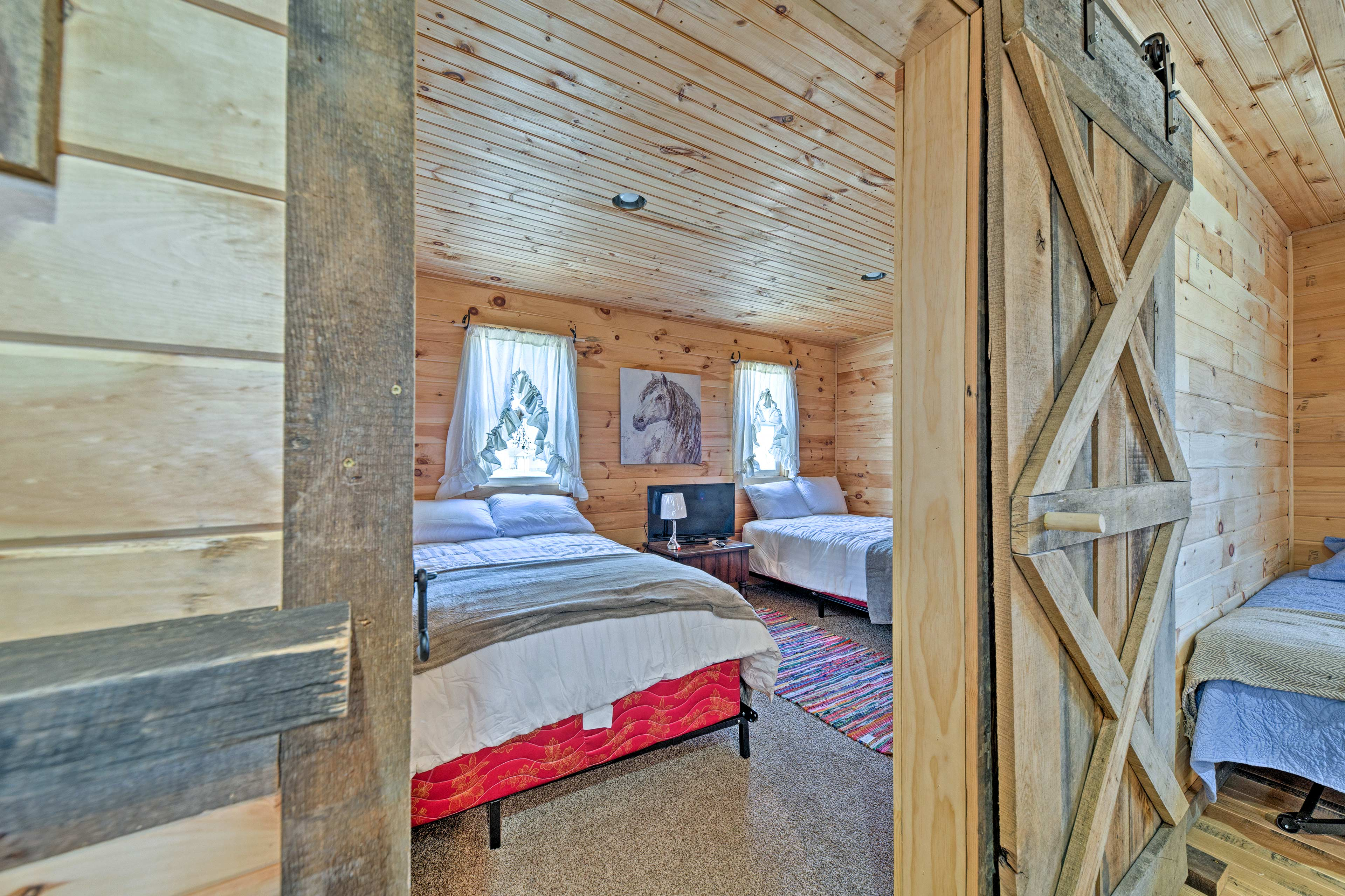 The second bedroom is the perfect place to unwind after a long day.
