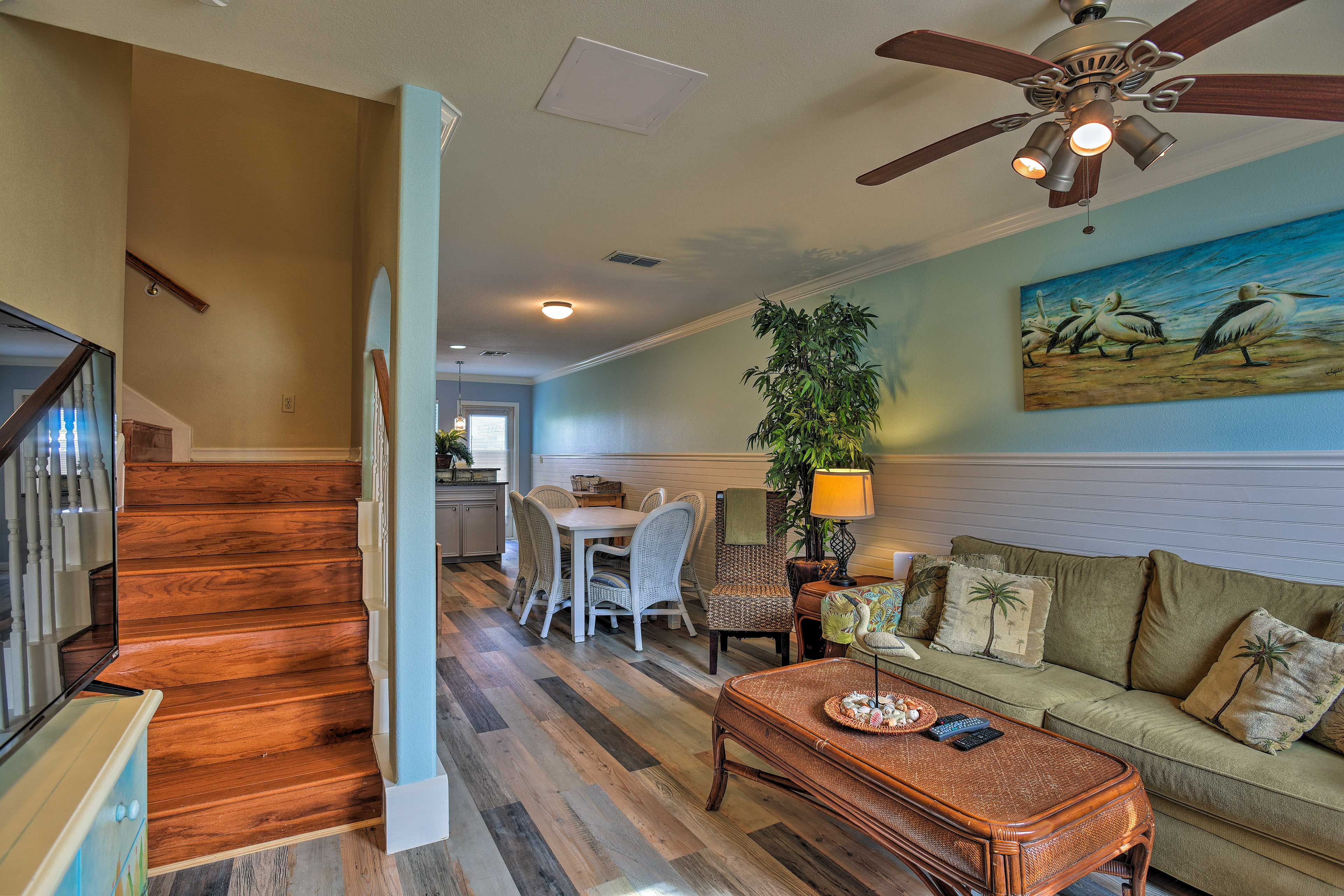 You'll be within walking distance of the beach and next to the community pool!