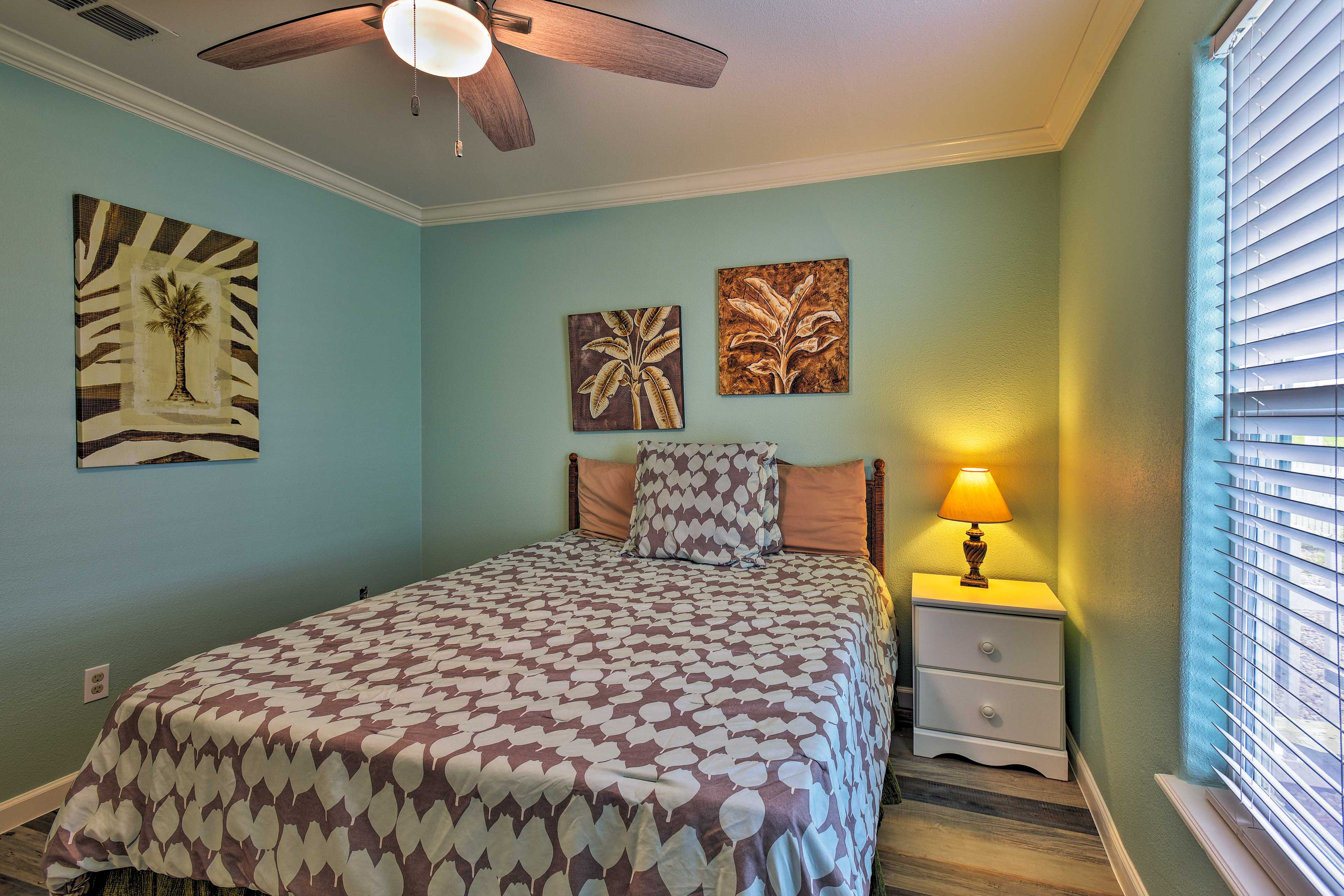 Keep the room extra cool with use of the fan.