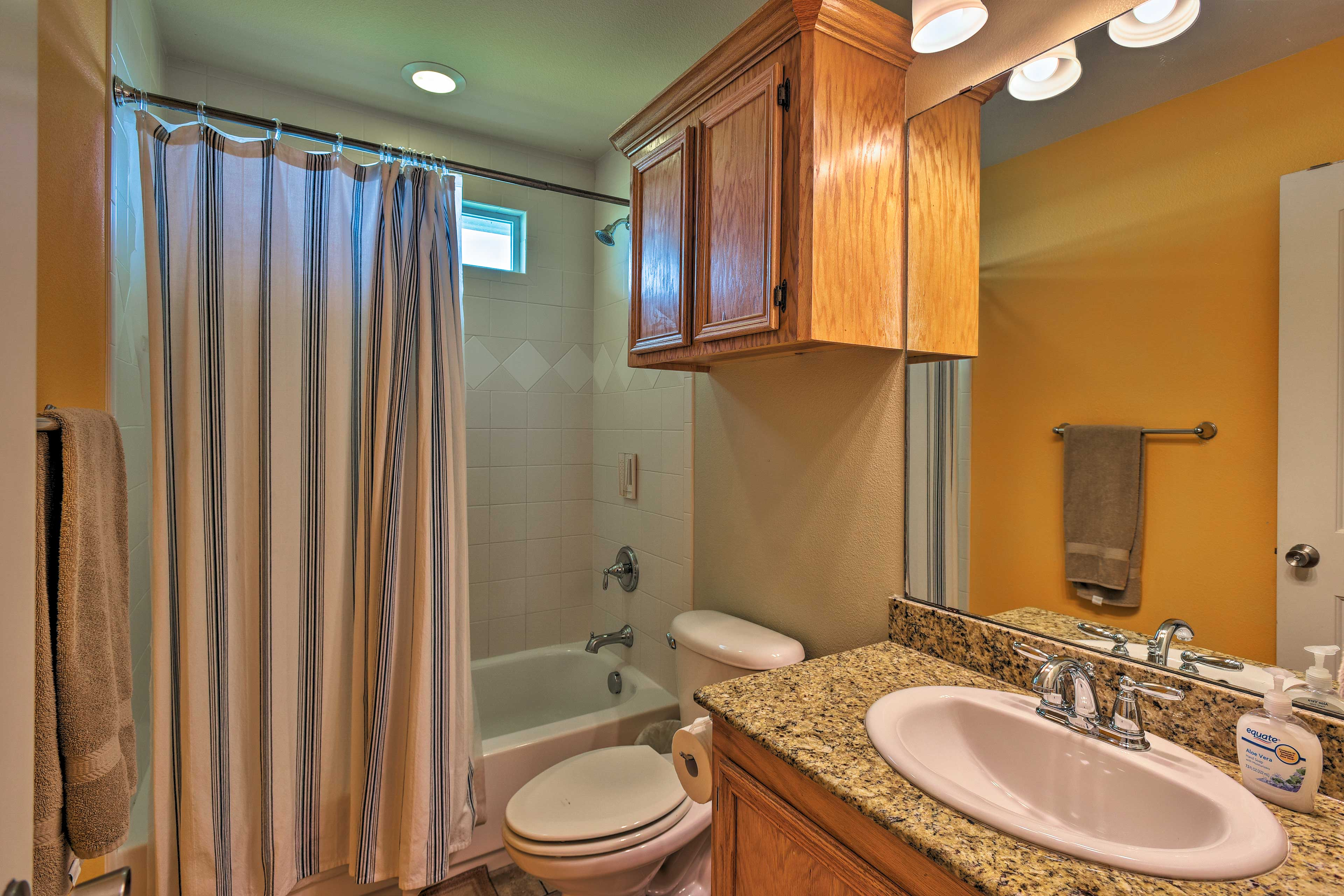 There is plenty of space to primp and refresh in privacy.