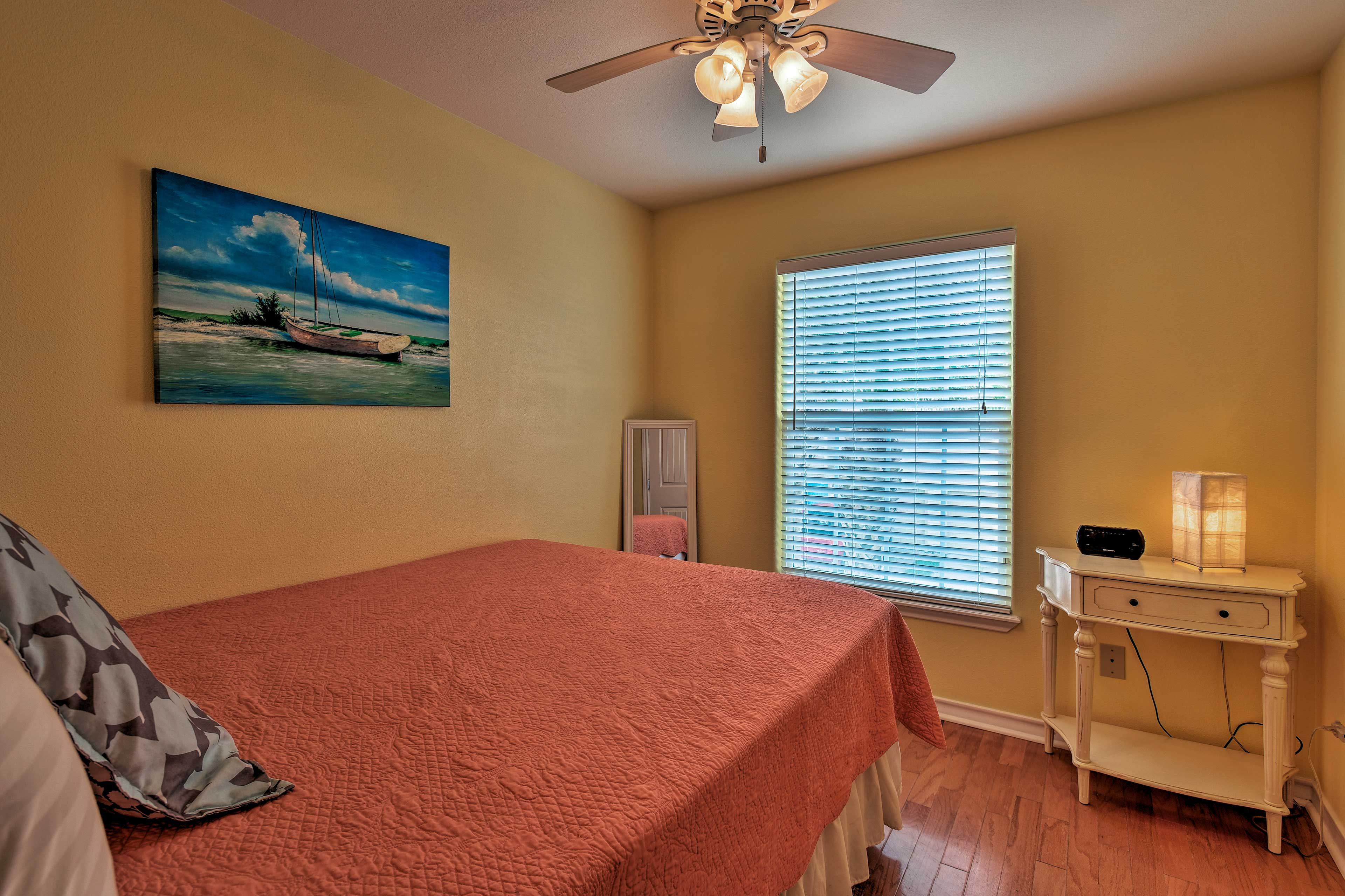 This lovely bedroom sleeps 2 in a queen bed.