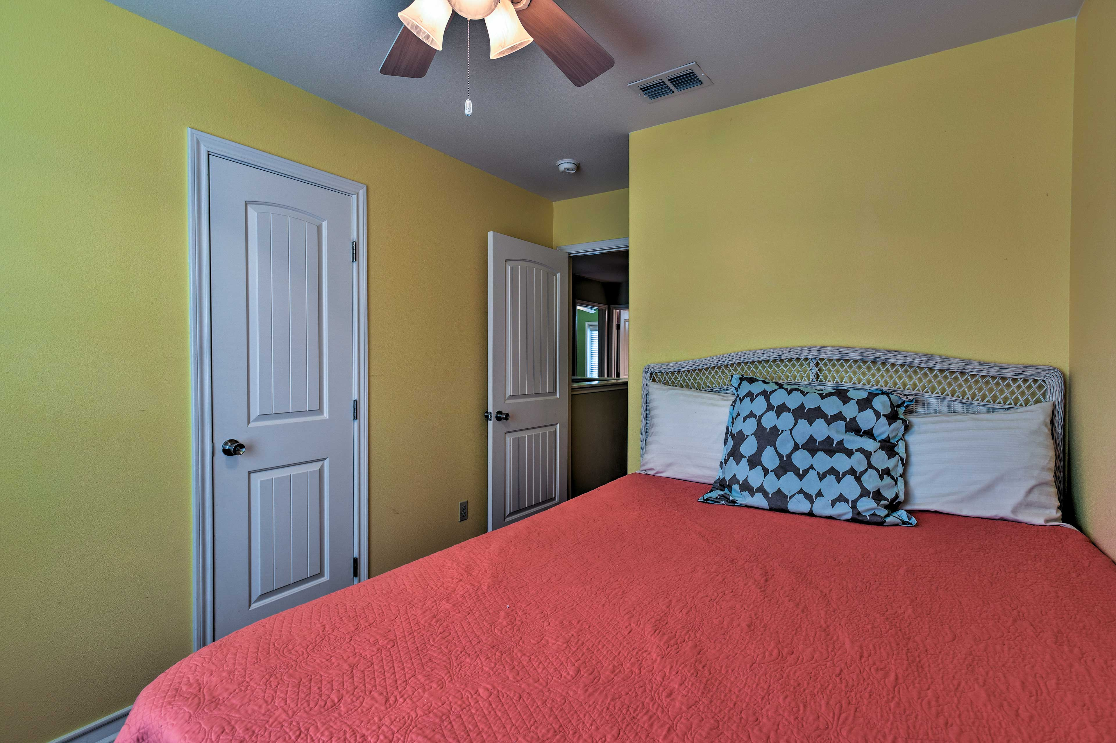 The bedrooms are completely cozy and private.