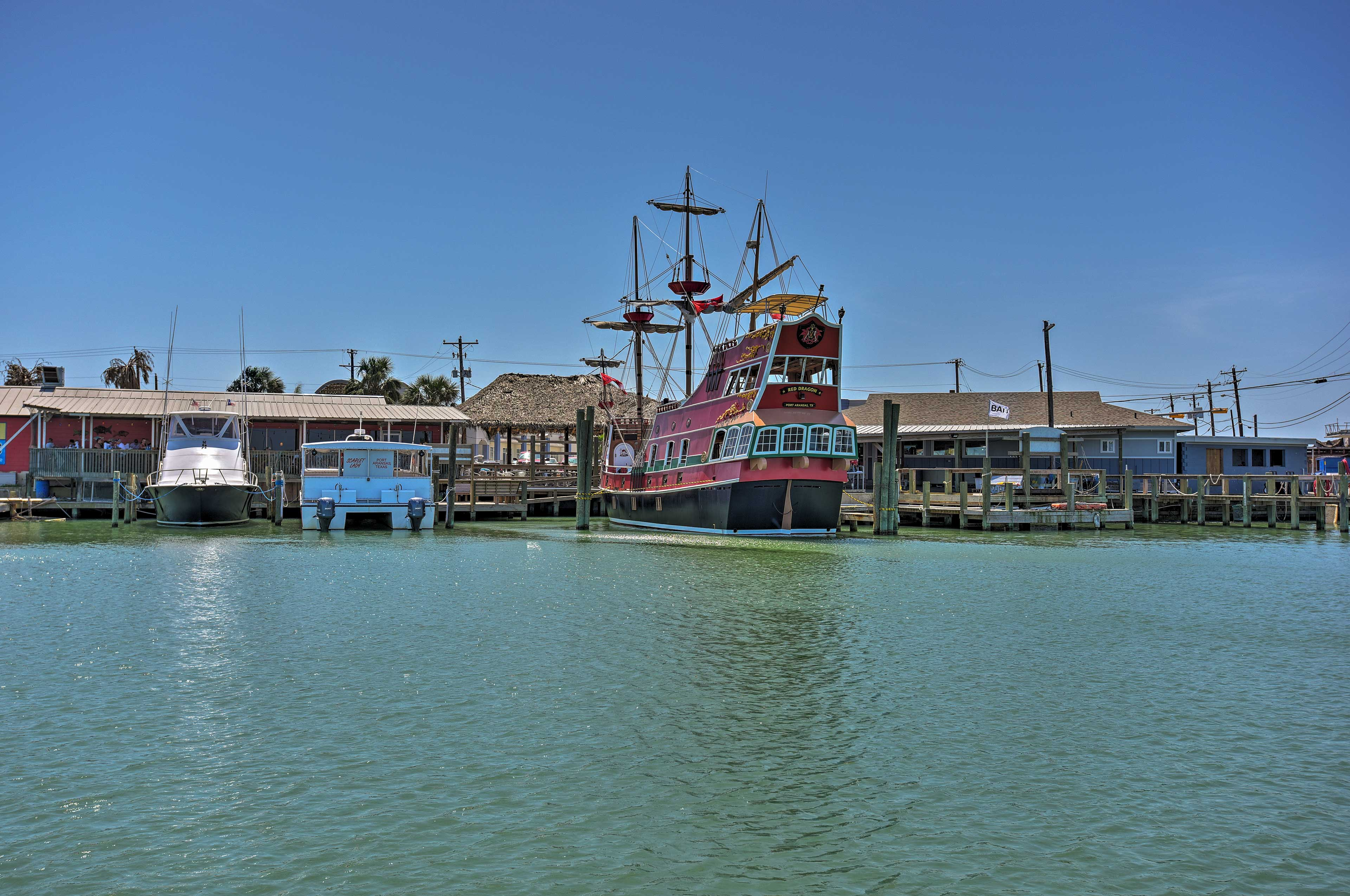 Tour the coast on the Red Dragon Pirate Ship!