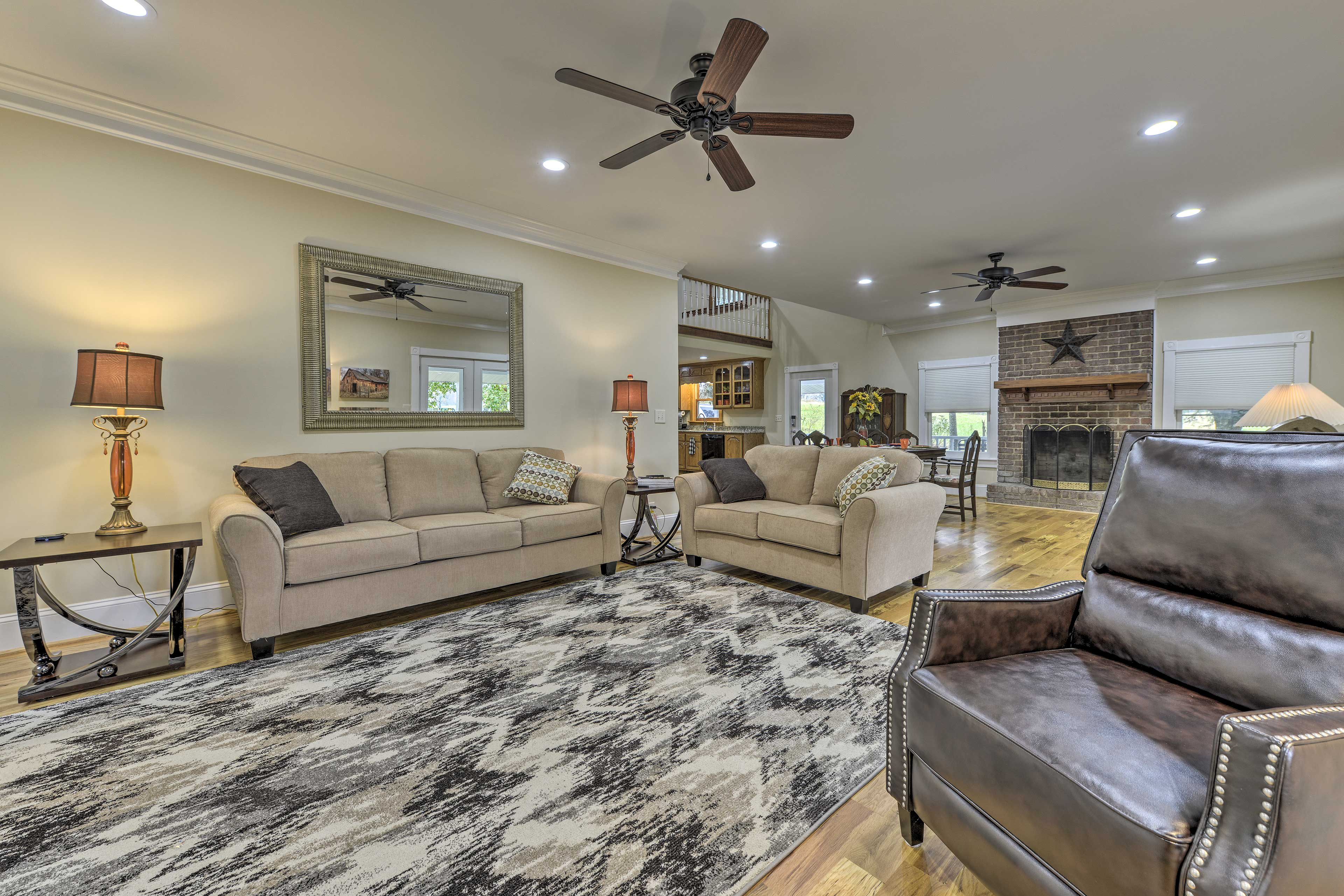 The interior boasts 2,944 square feet of tasteful living space.