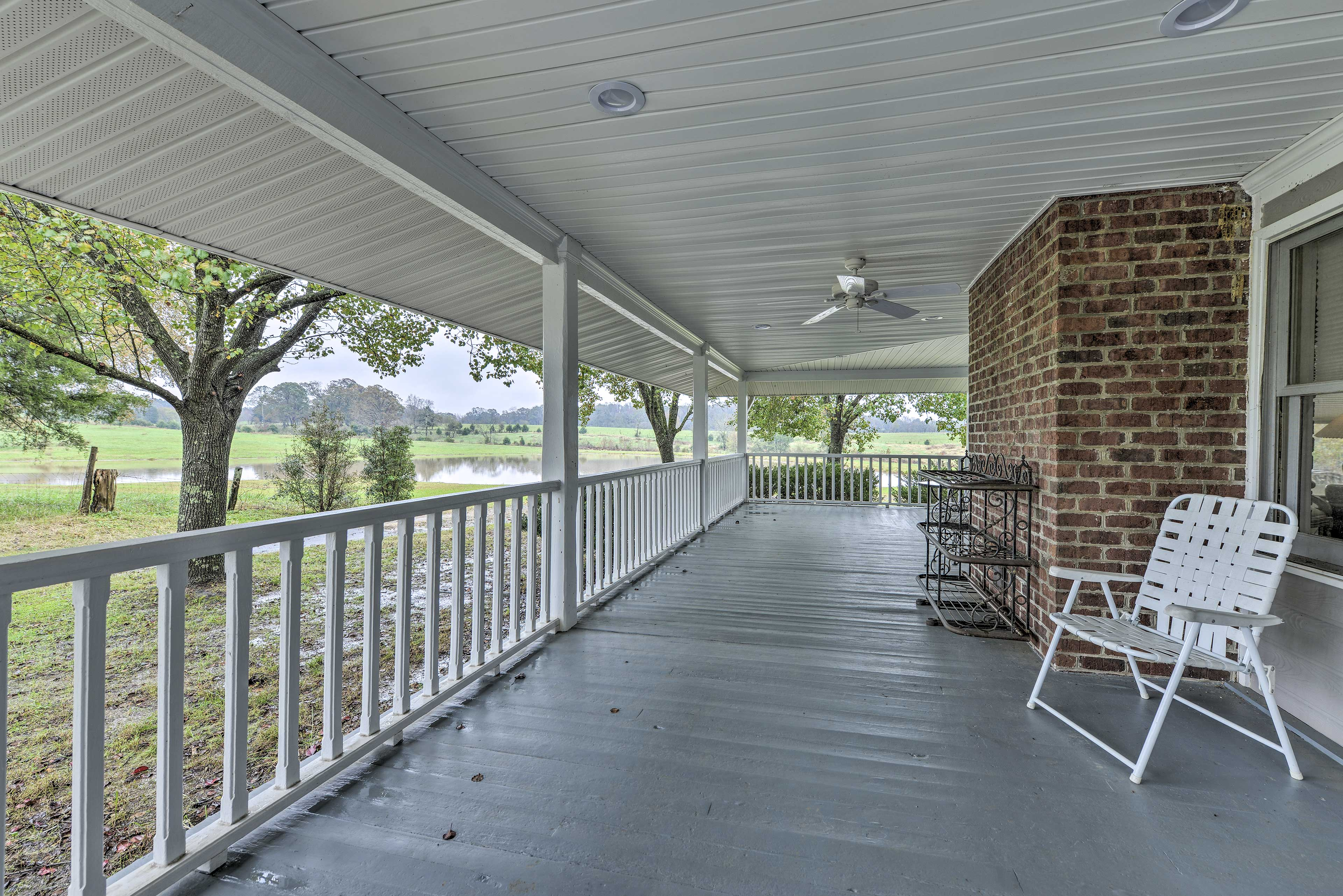 Take in the scenery from the spacious porch.