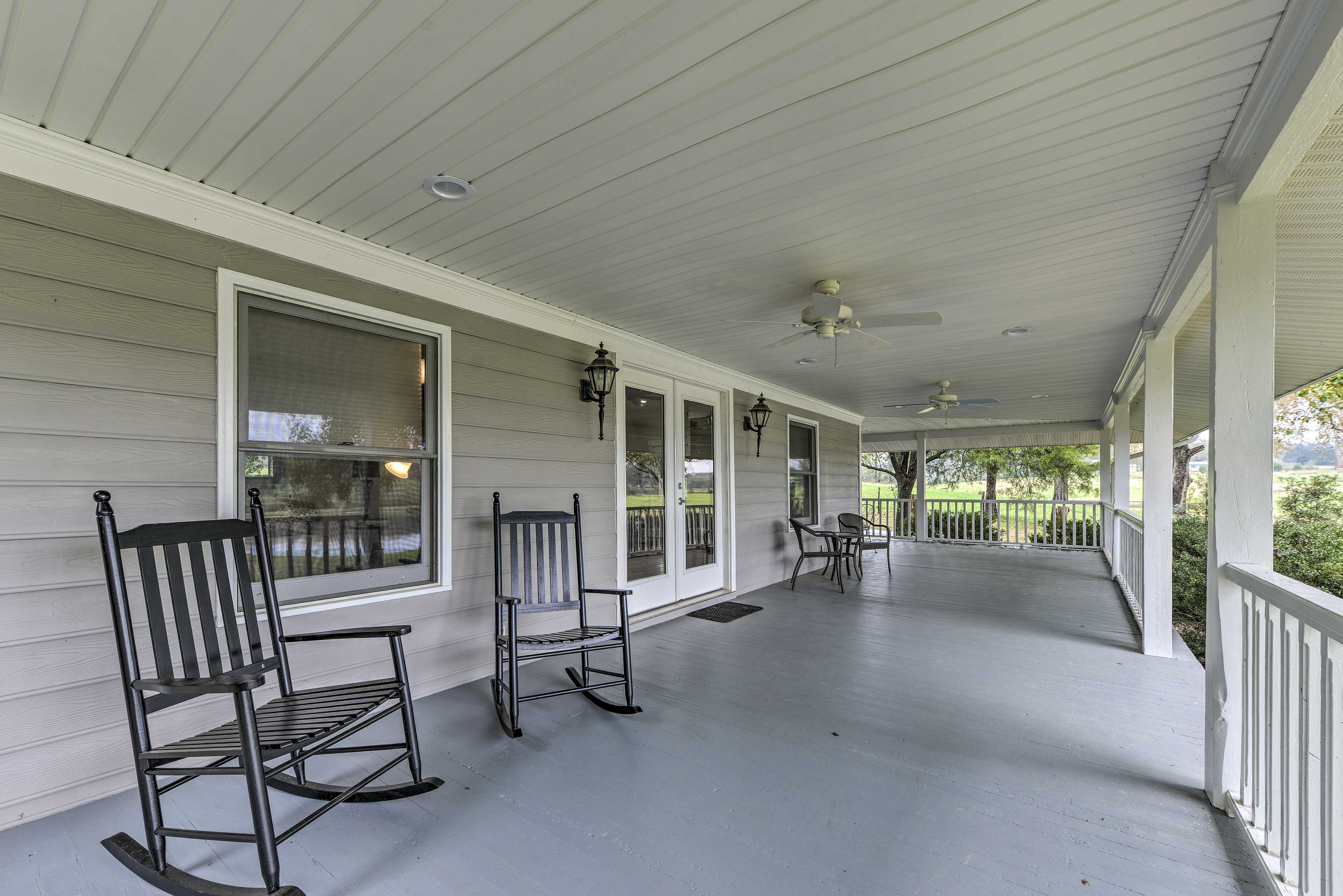 Sip your morning coffee on the large wraparound porch.