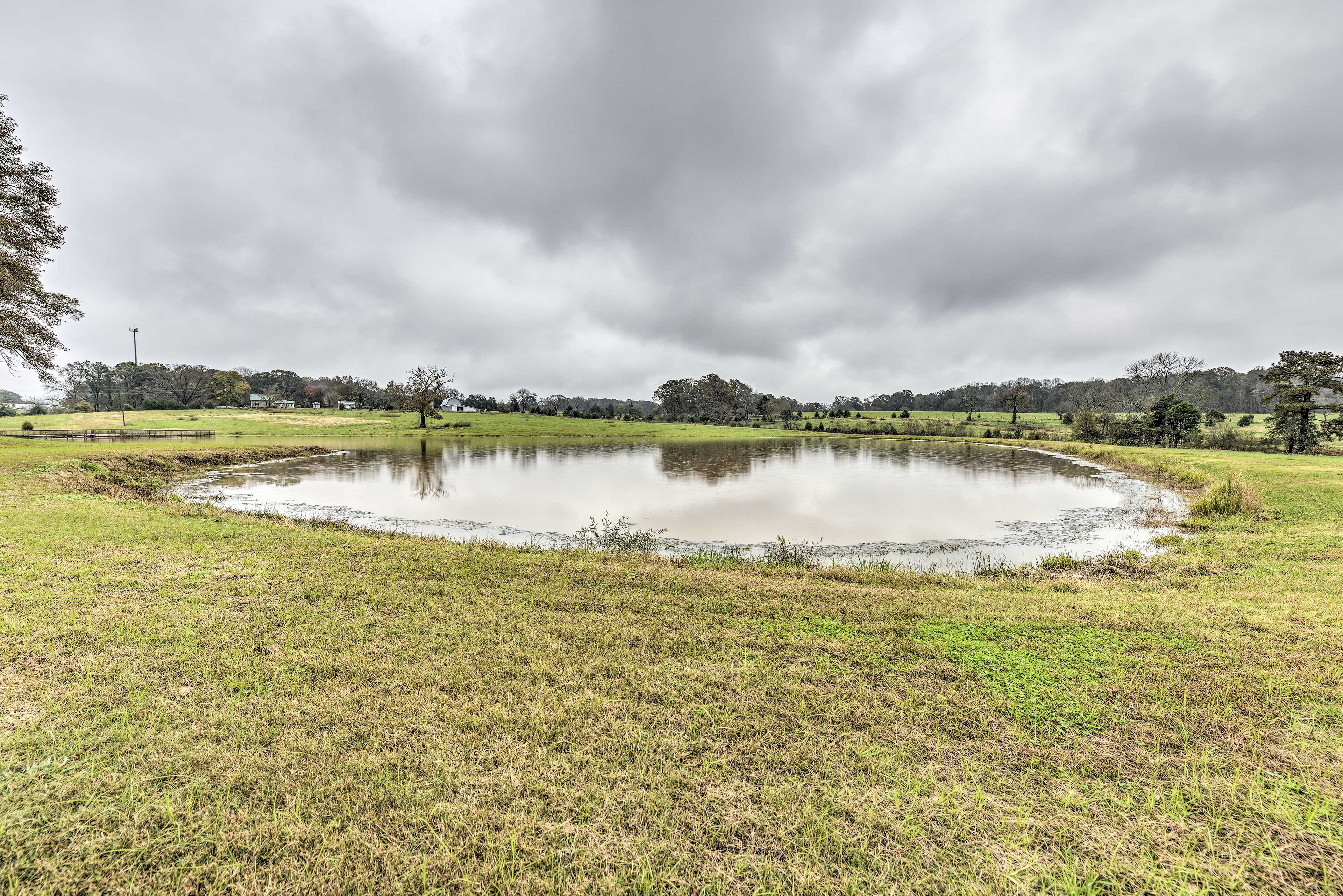 Go fishing or swimming in the 2-acre pond!