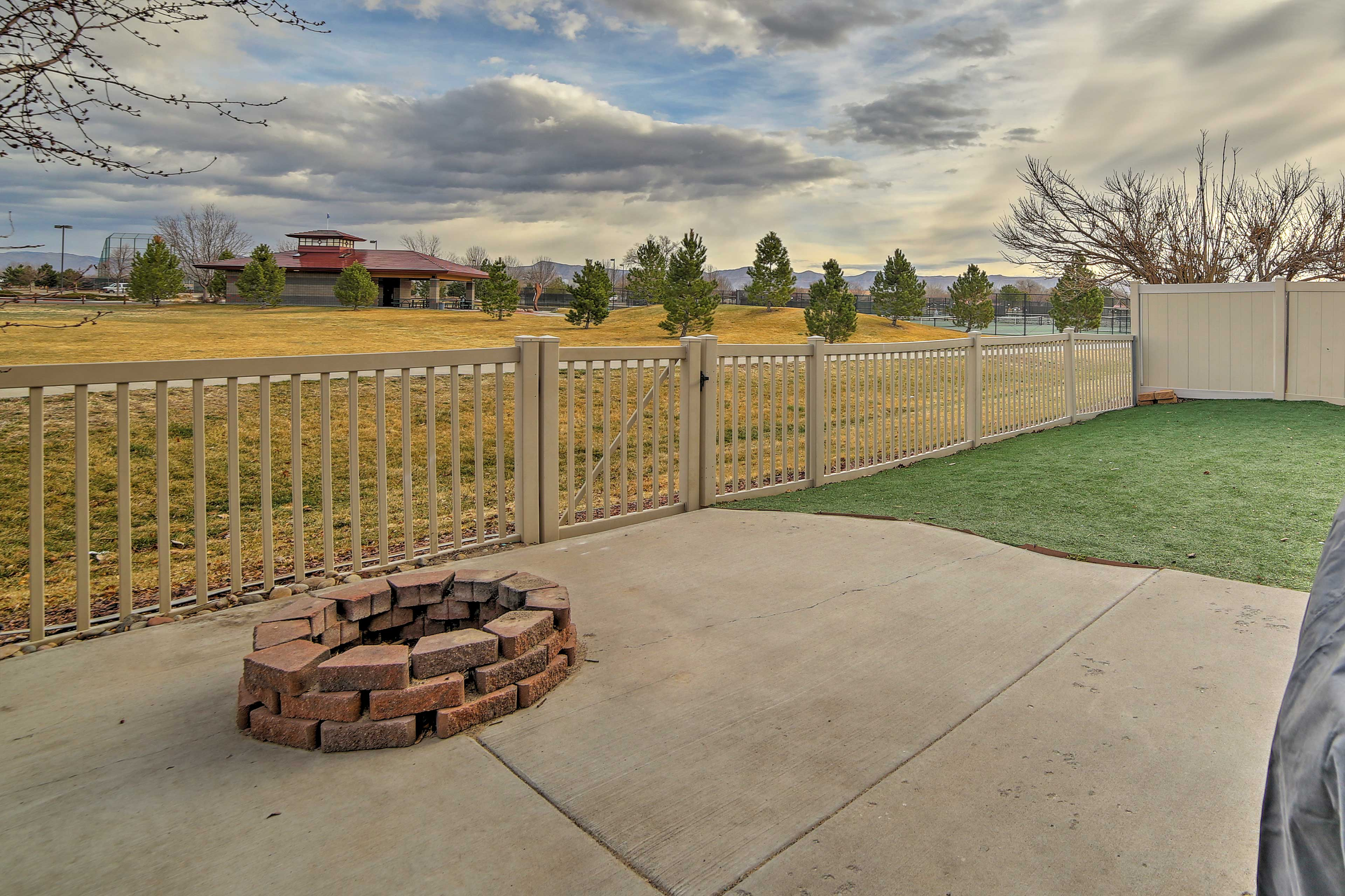 This home is located in Grand Junction and sits next to Canyon View Park.