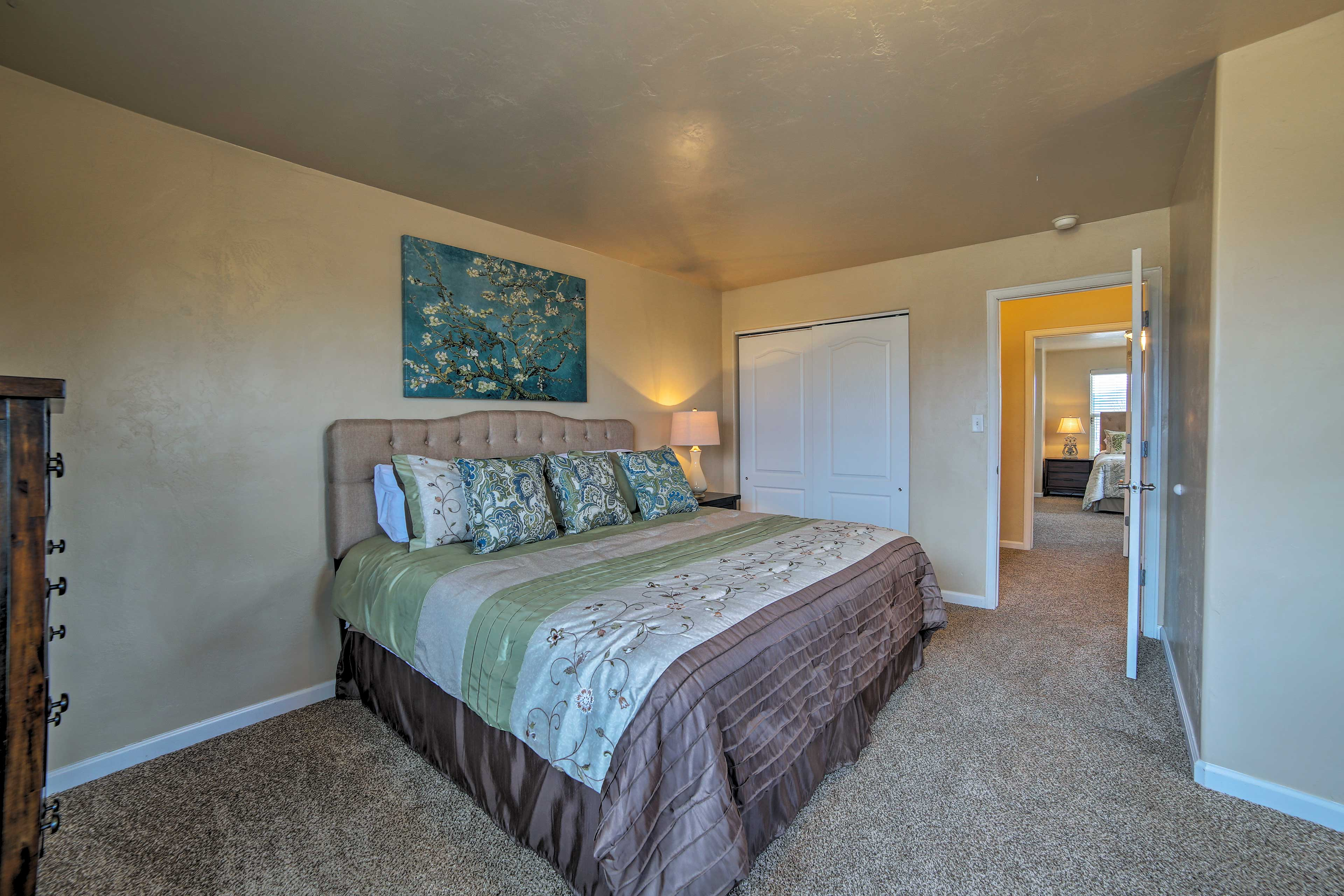 Take an afternoon nap in the king bed of bedroom 3.