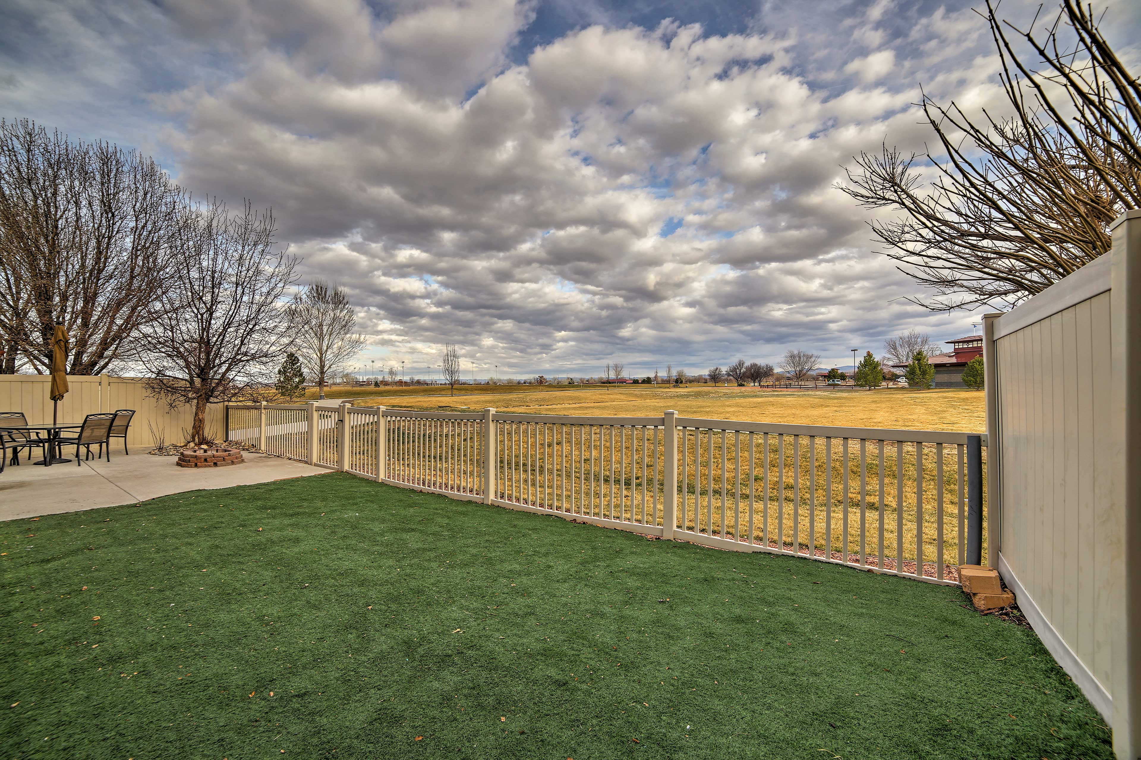 Scenic landscape views of Canyon View Park greet you from every direction.