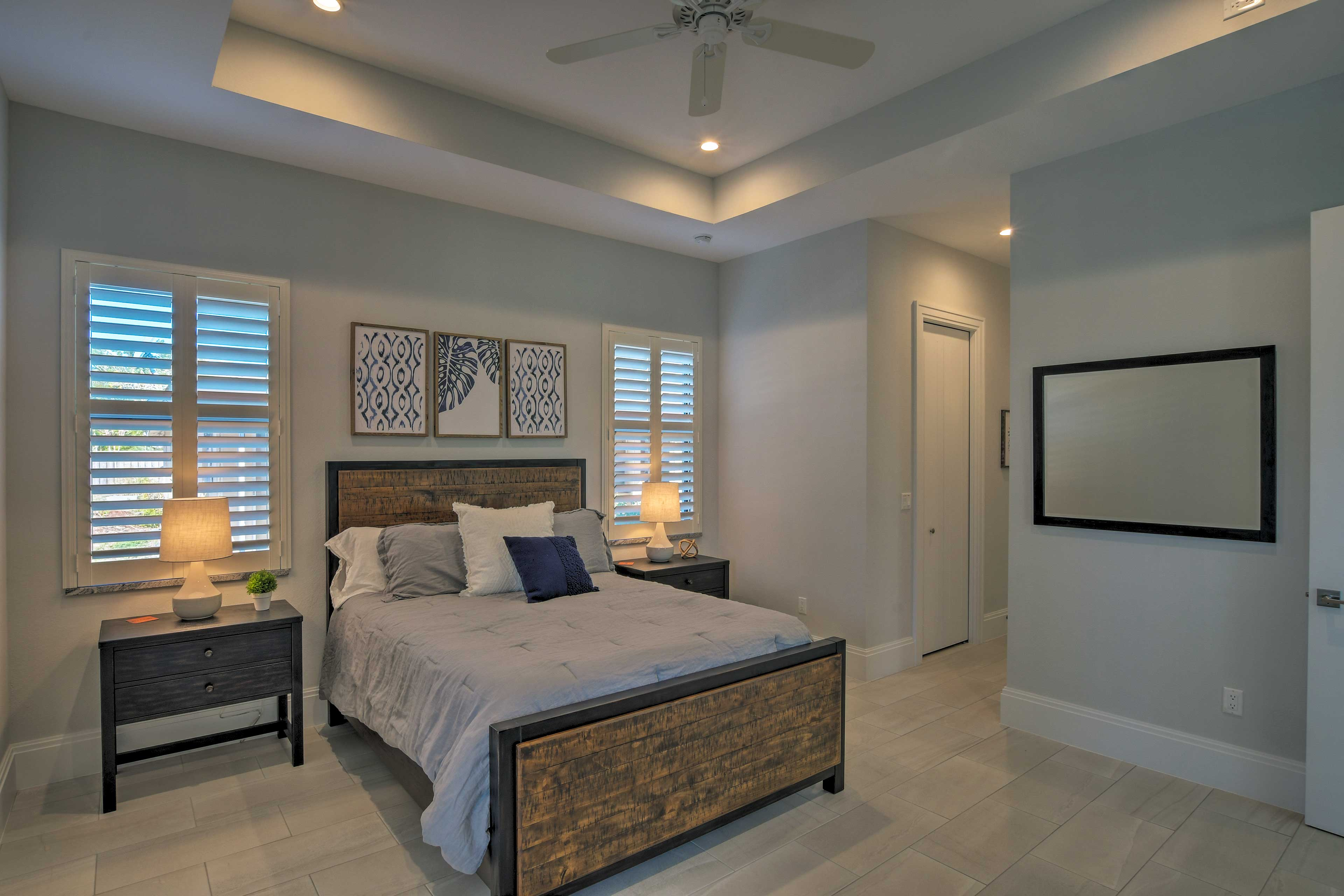 The master bedroom offers ample space to spread out and relax.