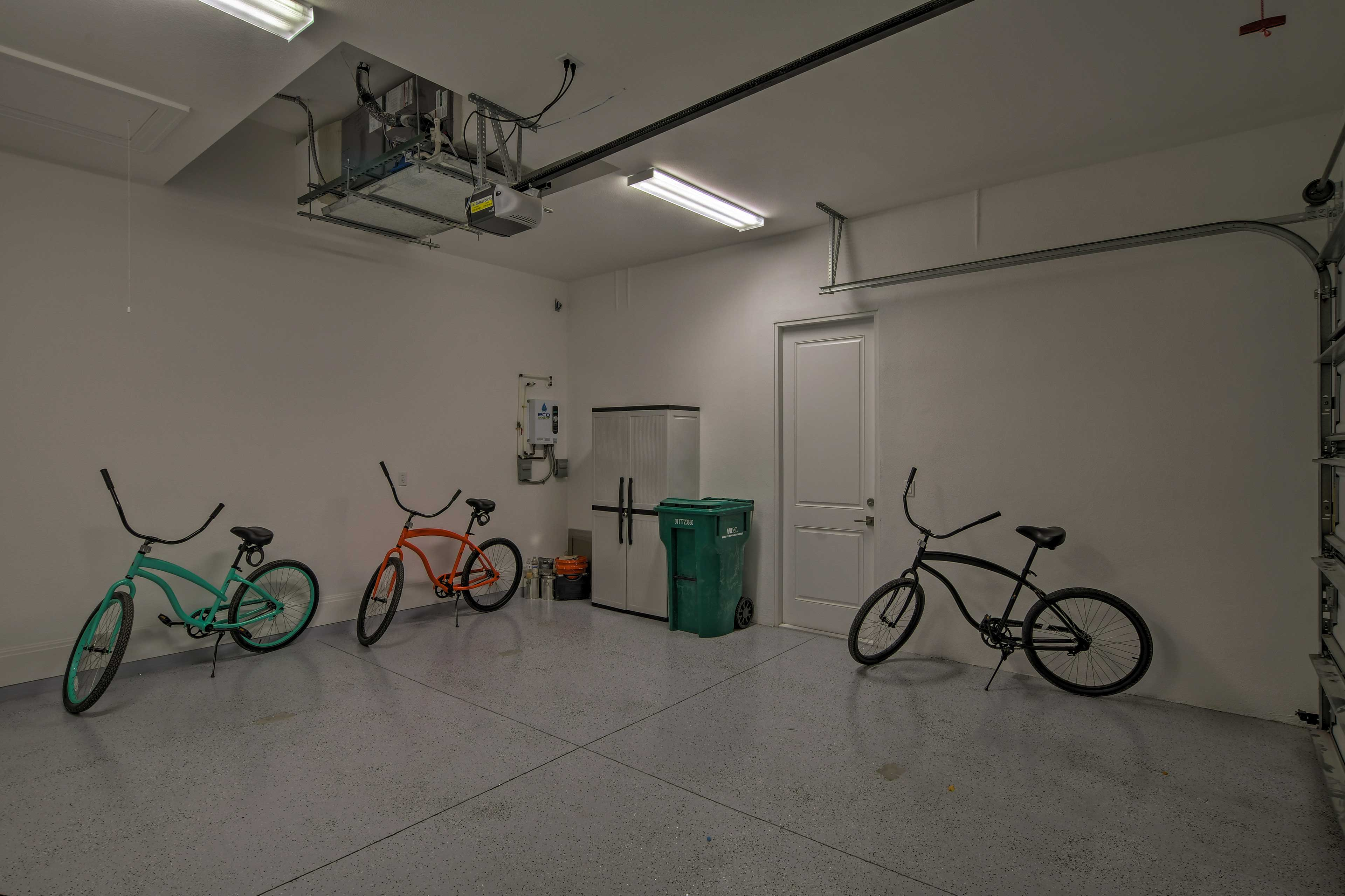 Park 2 vehicles in the garage!