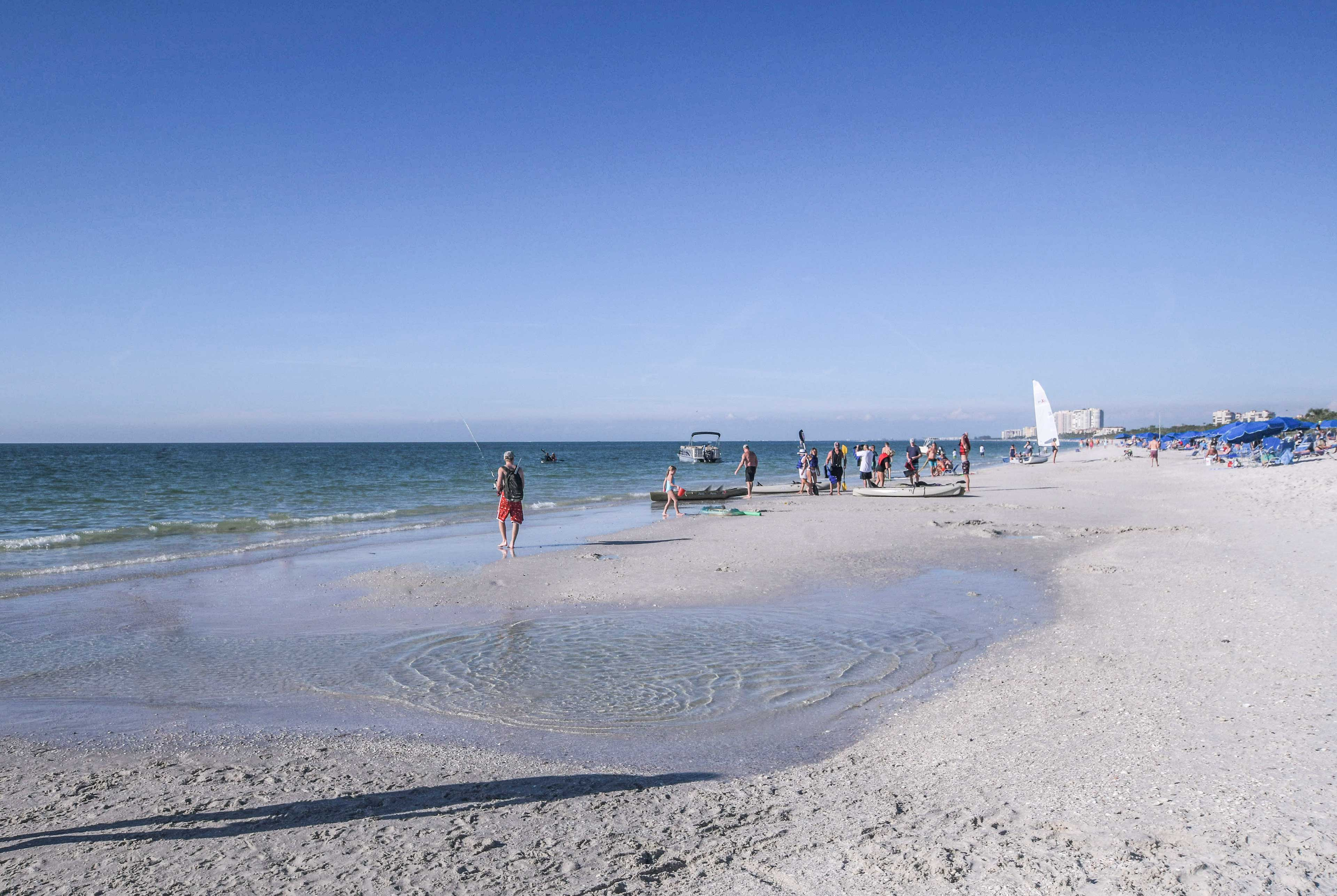 Bring the provided beach towels, chairs and cooler to the beach!