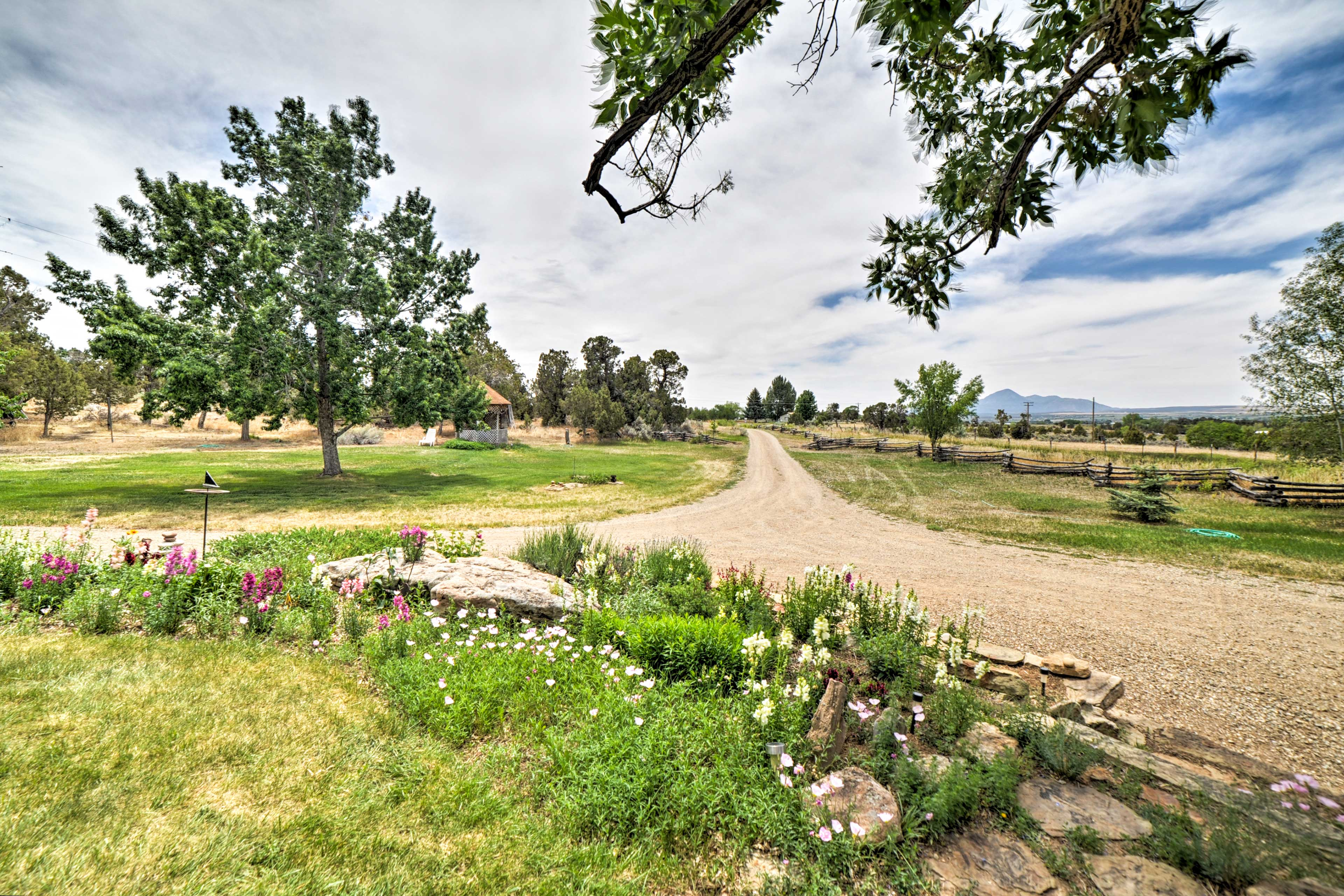 This large property boasts a small farm and top-notch garden.