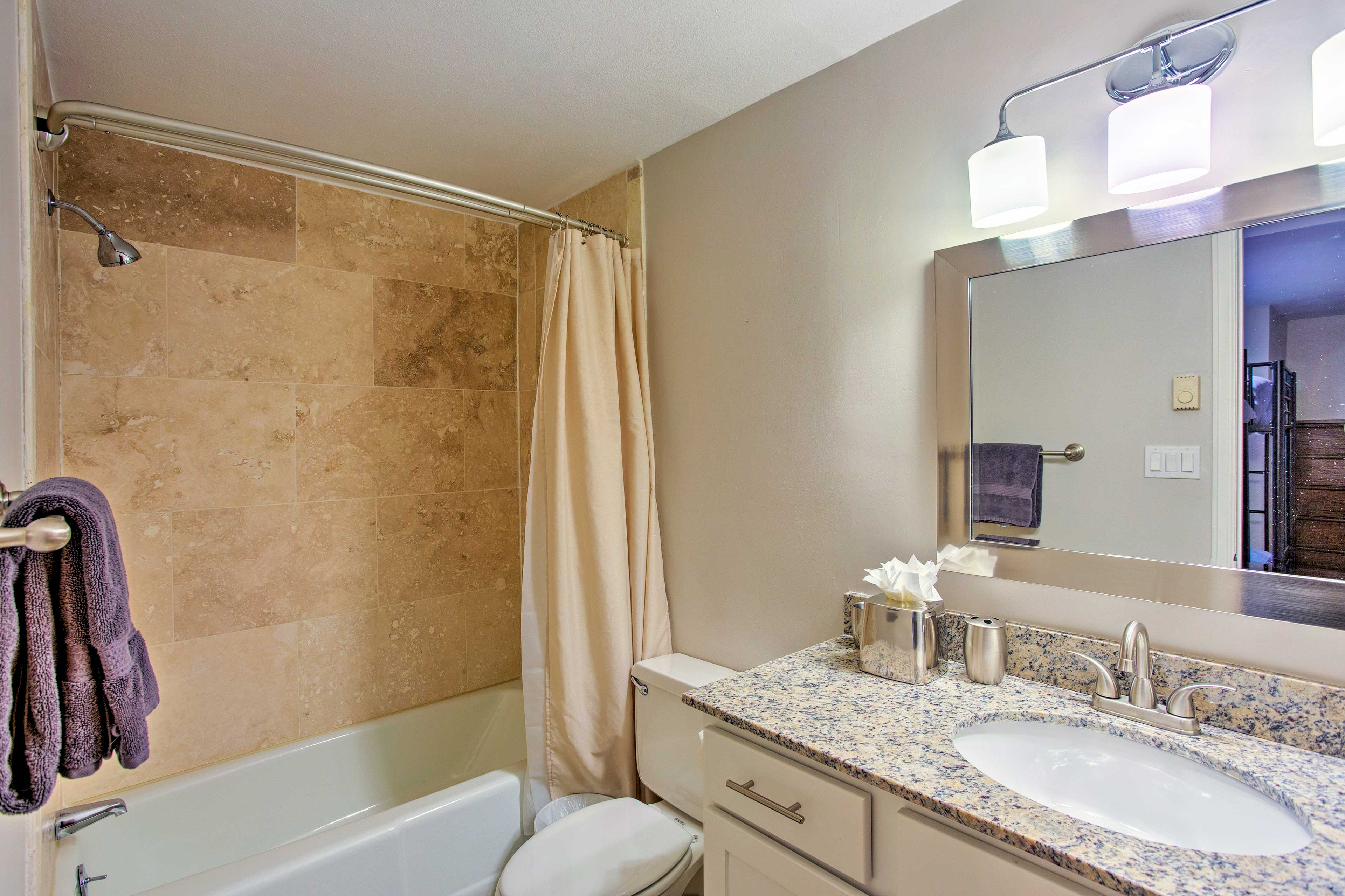 Rinse off the trail dust in the first full bathroom.