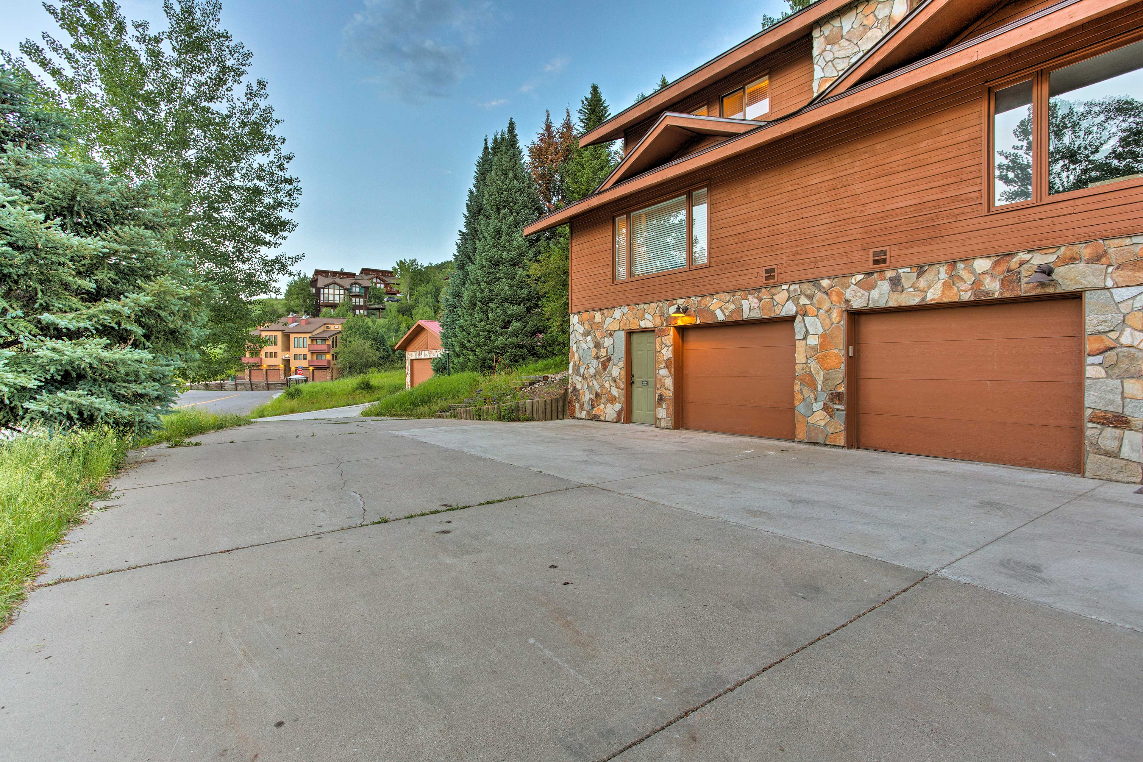 Gaze out at the scenic mountain views surrounding the property.