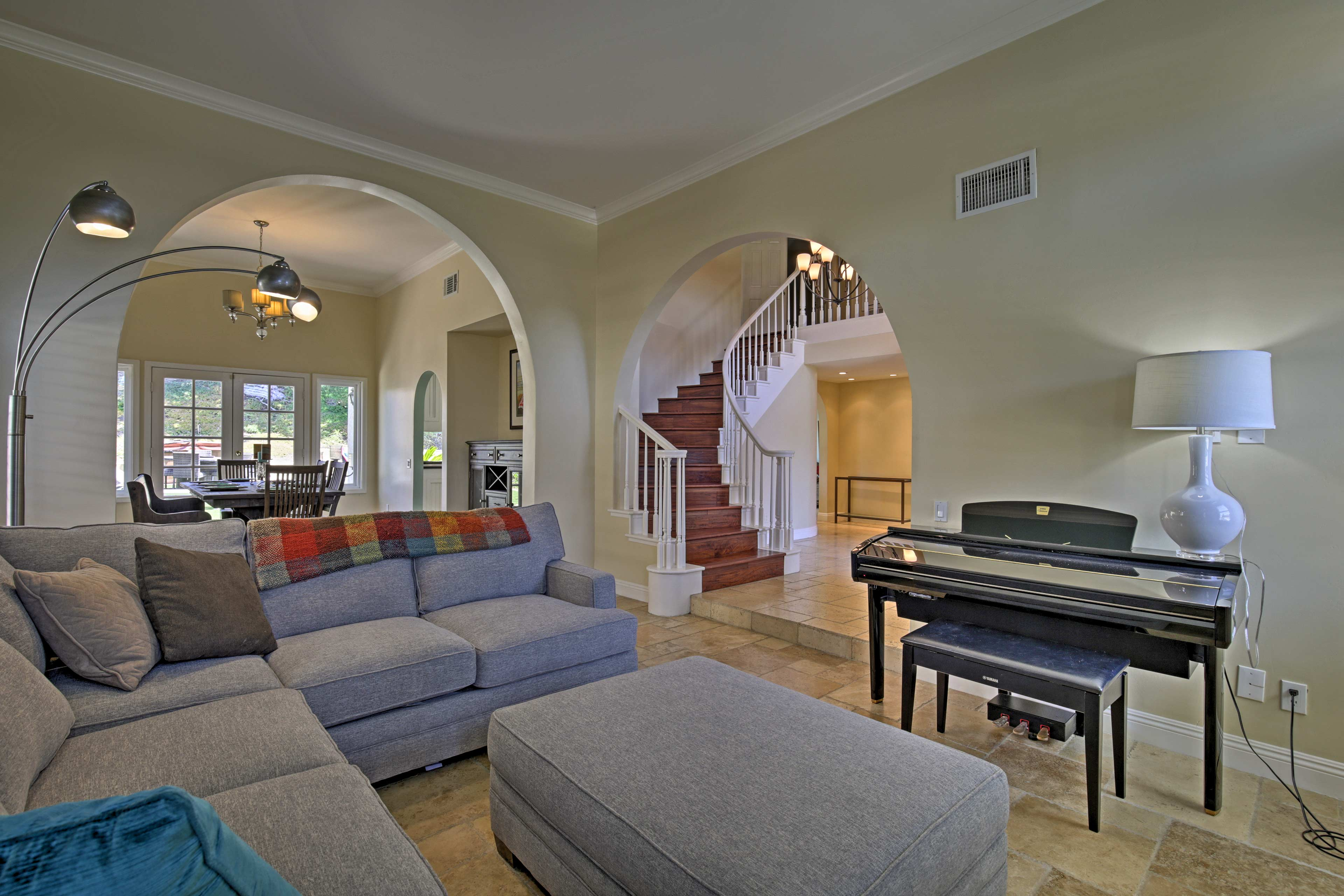 Escape to the formal living room for a moment to yourself.