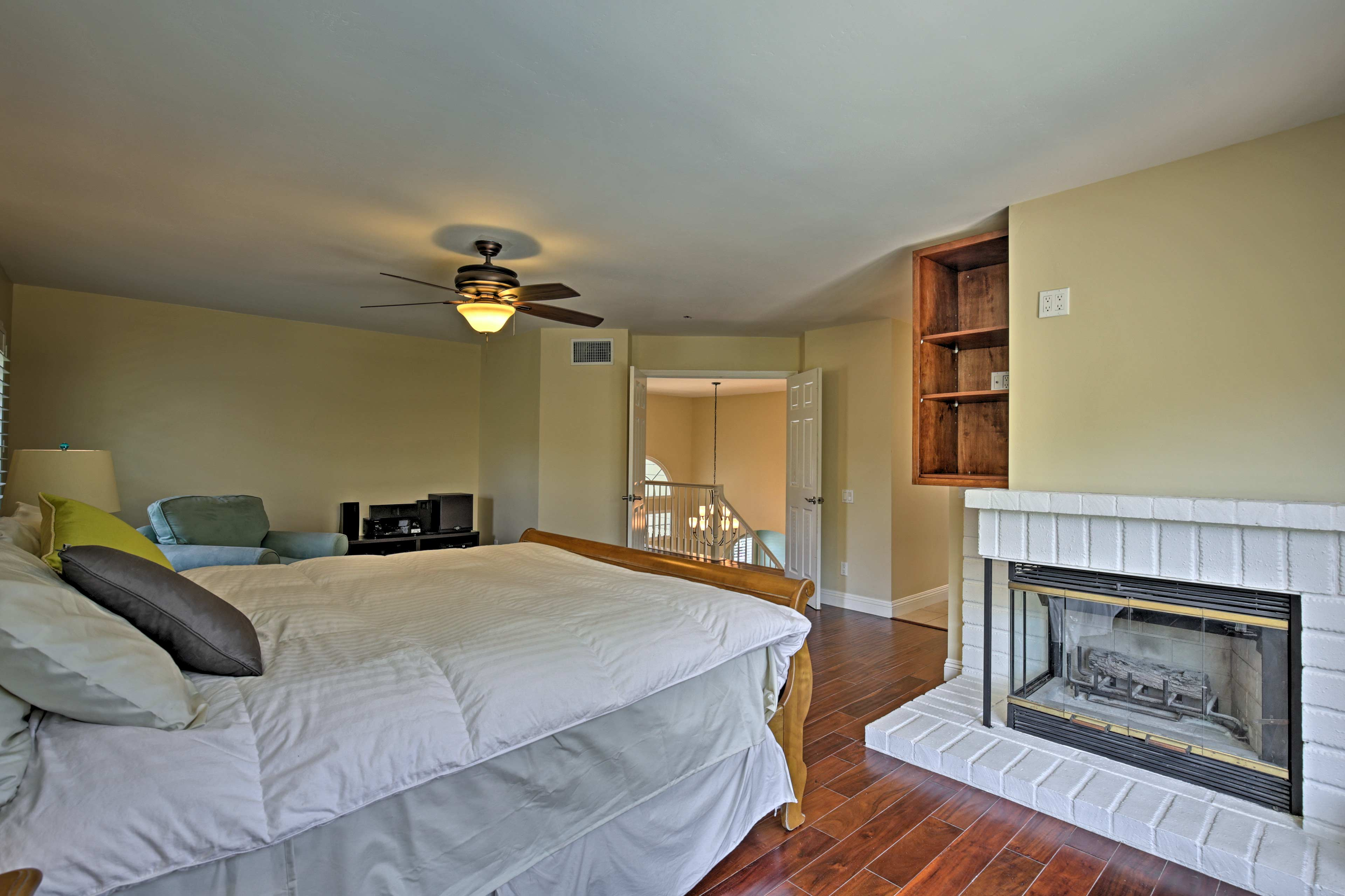 Fall asleep to the warm glow of the gas fireplace.