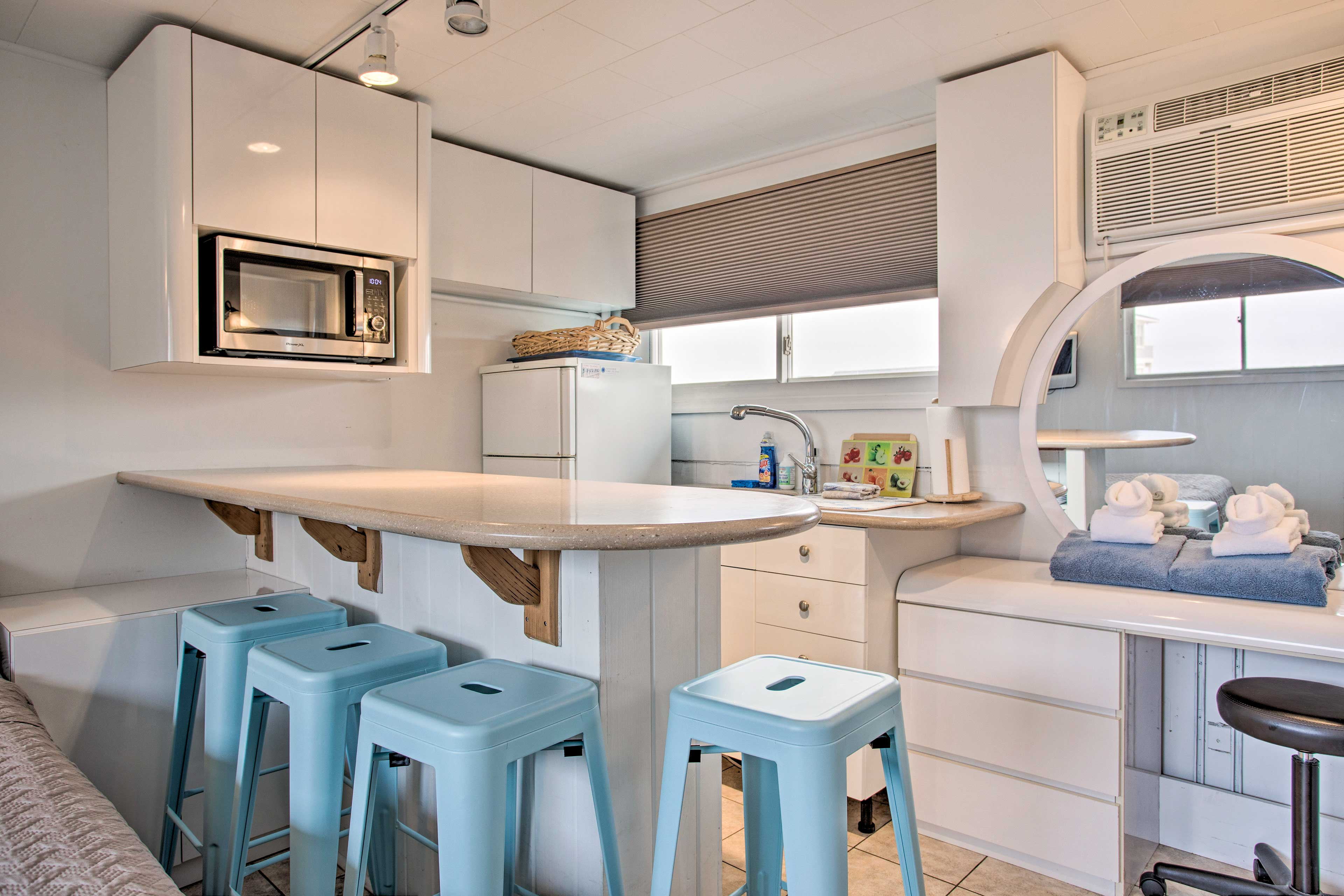 Your Fire Island romantic getaway begins at this vacation rental studio!