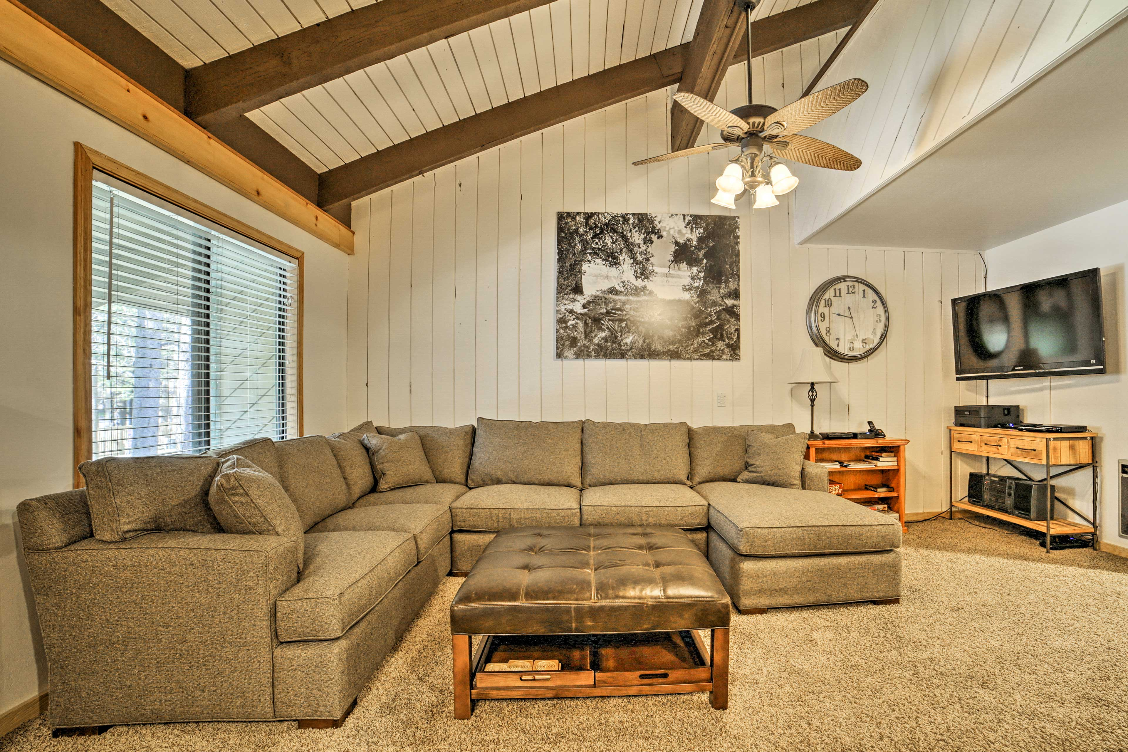 The vaulted ceilings add to the spaciousness.