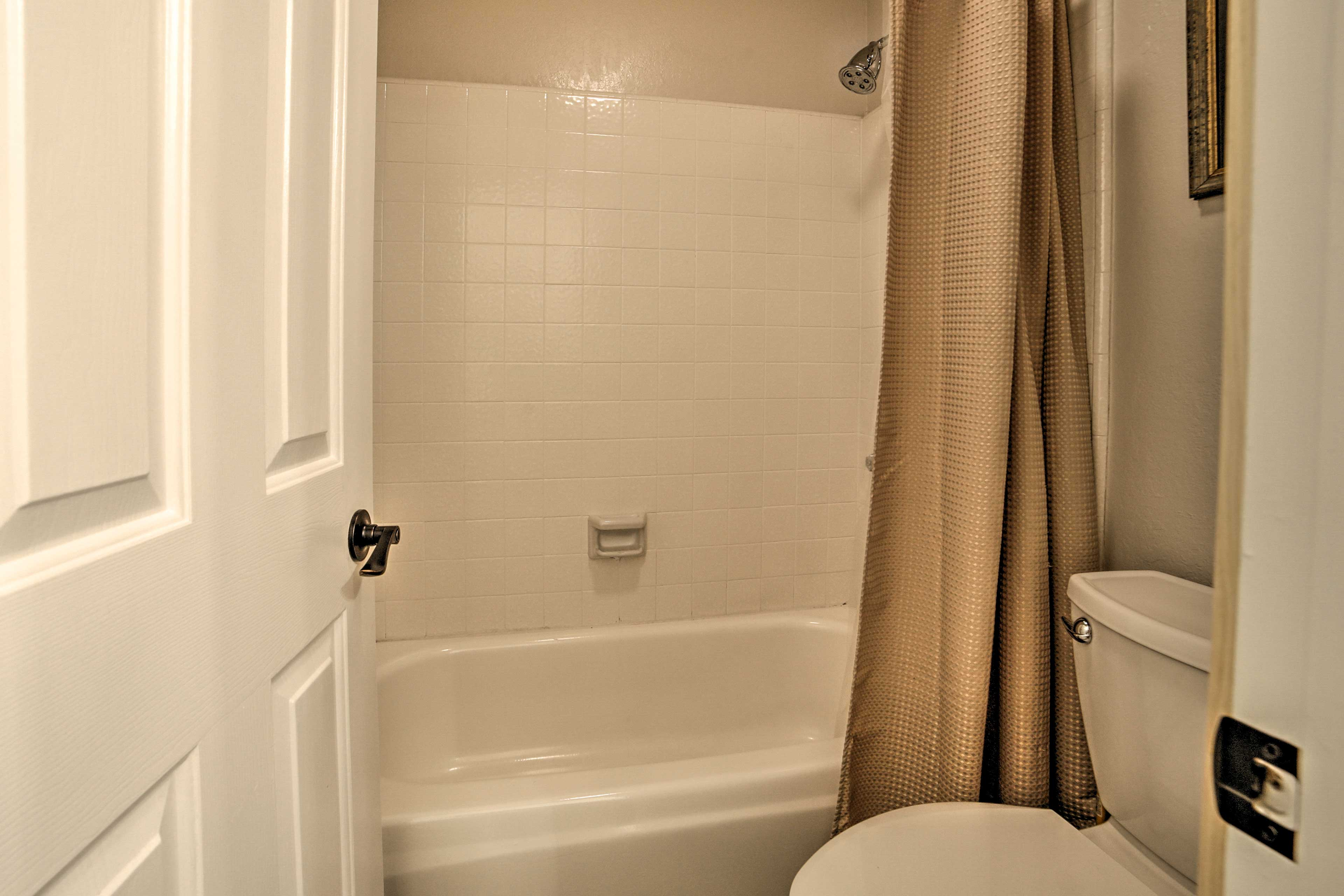 Soak in the tub or rinse off in the shower.