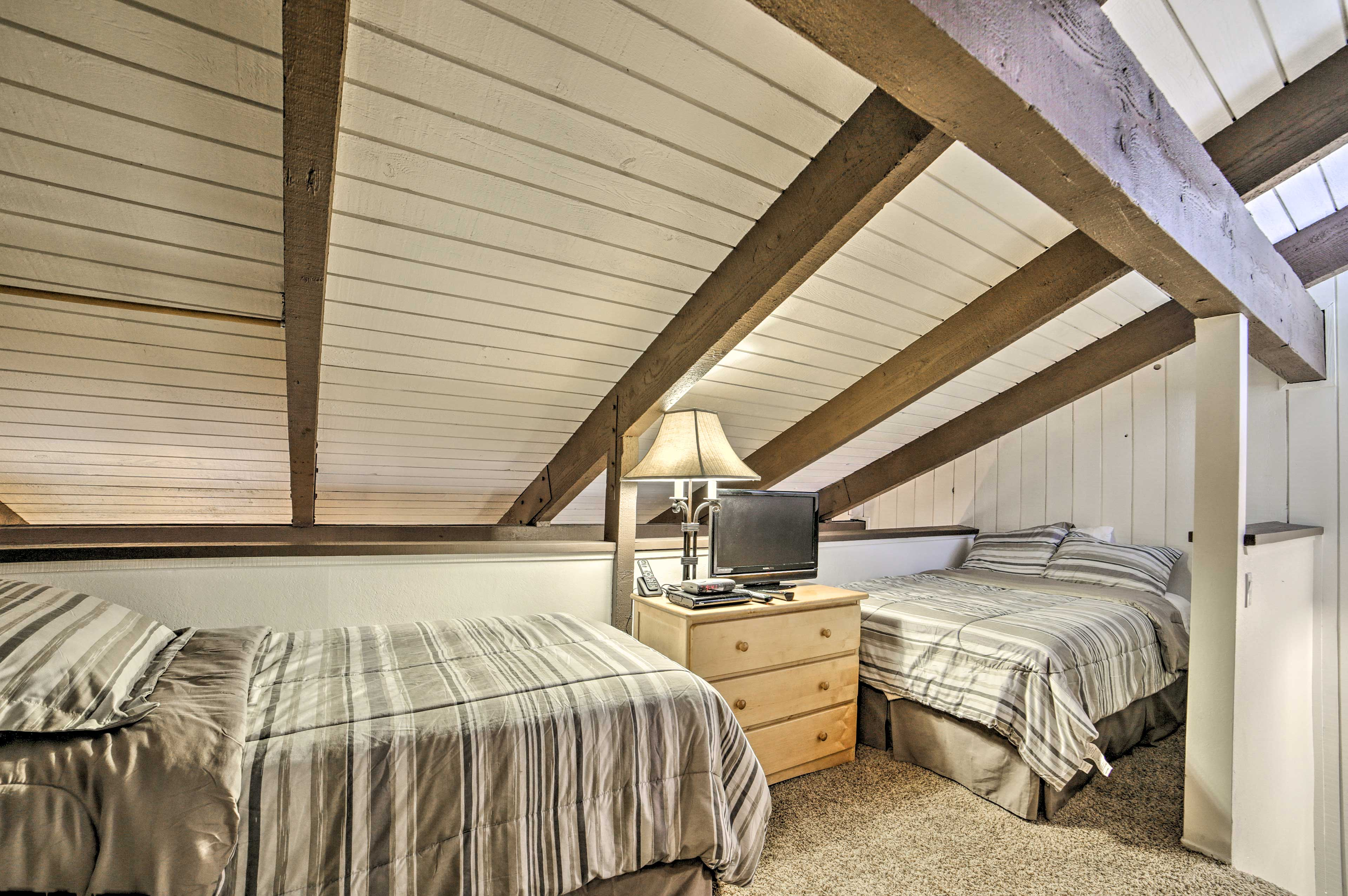 Kids will love curling up in the loft.